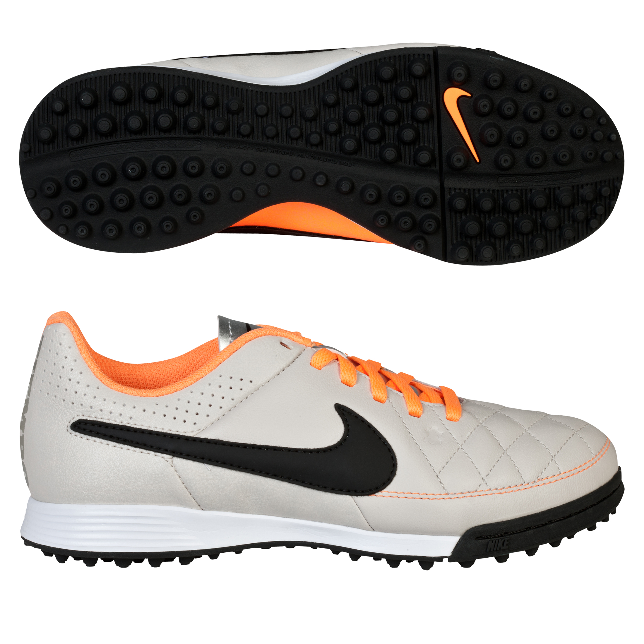Nike Tiempo Genio Astroturf Trainers - Kids Beige