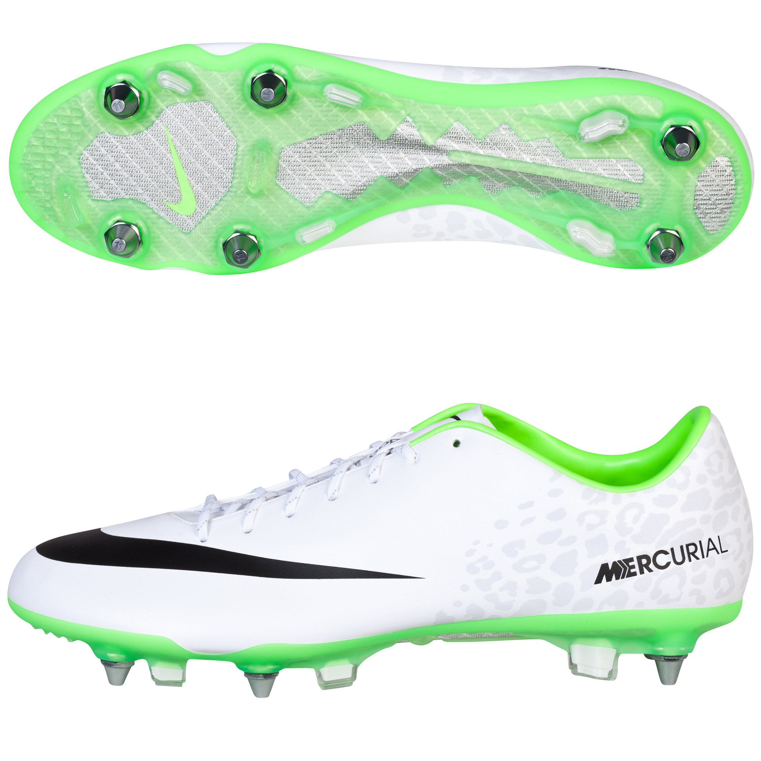 Nike Mercurial Vapor IX Soft Ground Football Boots White