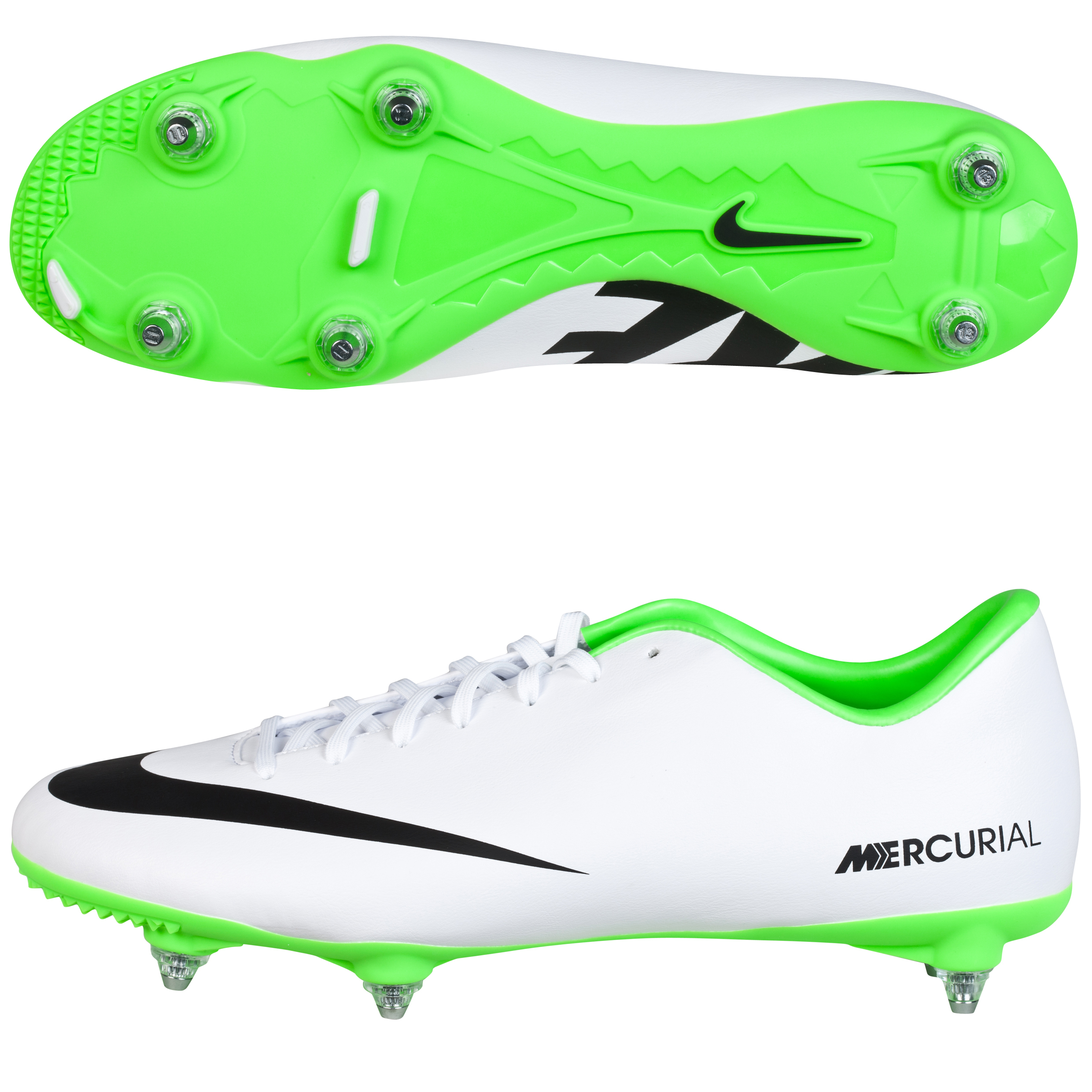 Nike Mercurial Victory IV Soft Ground Football Boots White