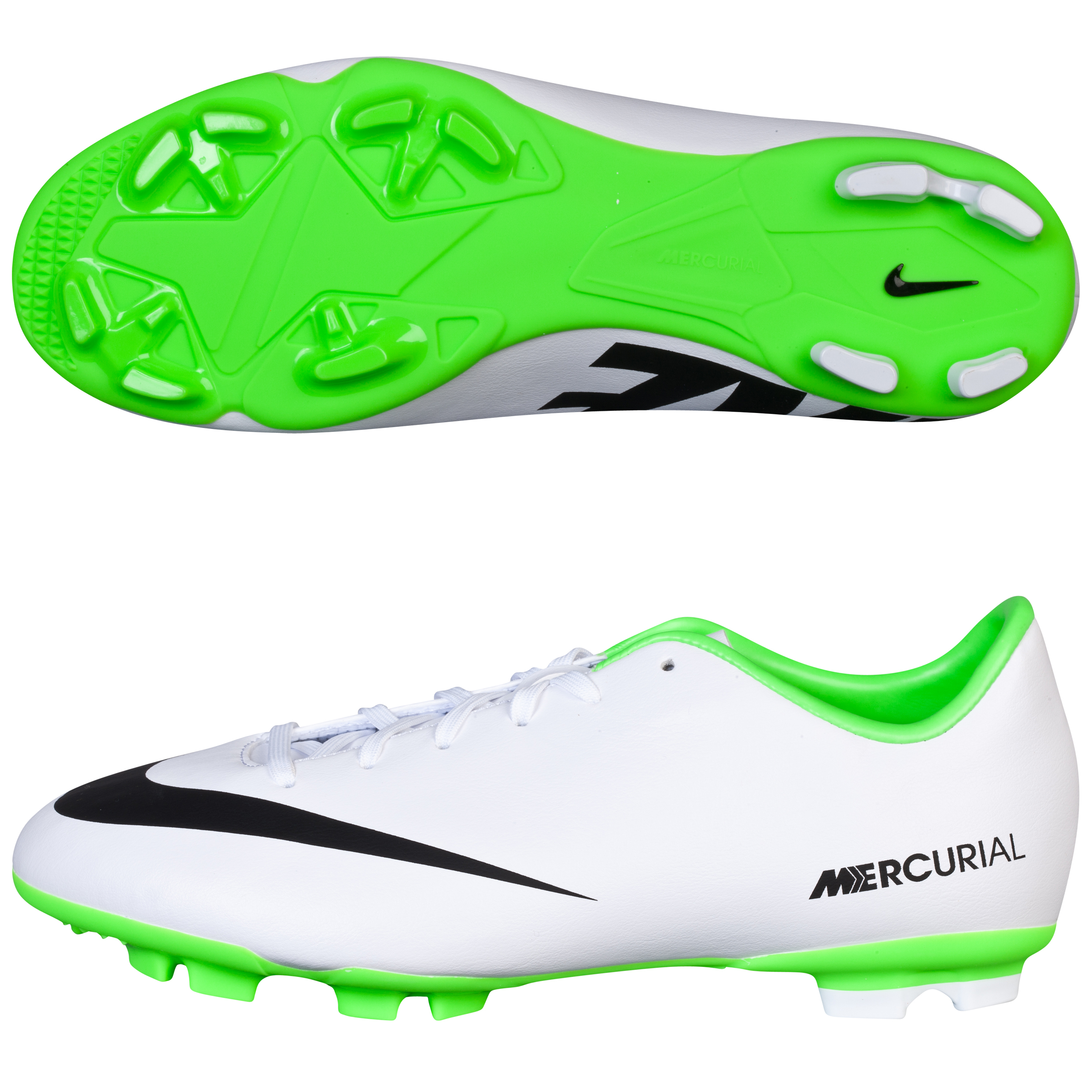 Nike Mercurial Victory IV Firm Ground Football Boots - Kids White