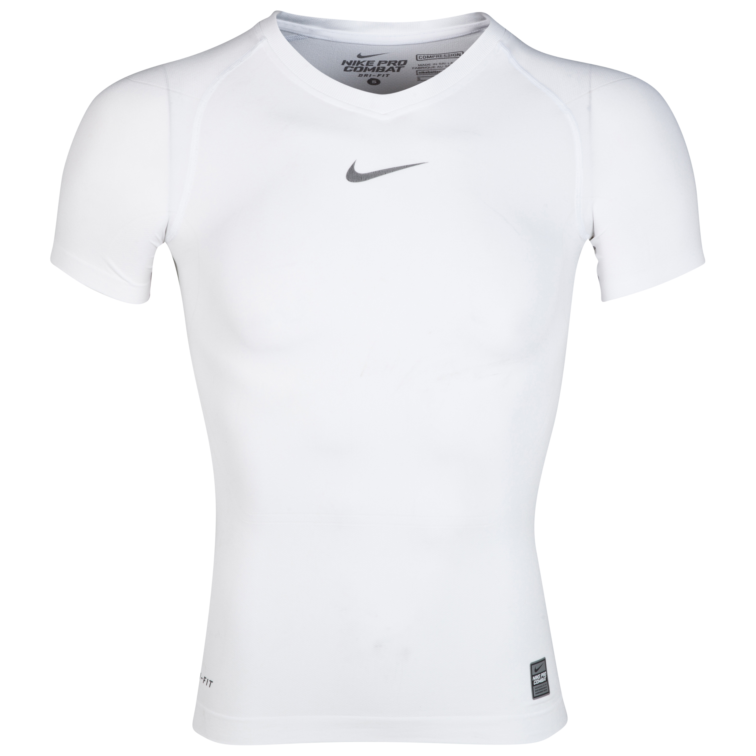 Nike Pro Combat Lightweight Seamless Base Layer Top White