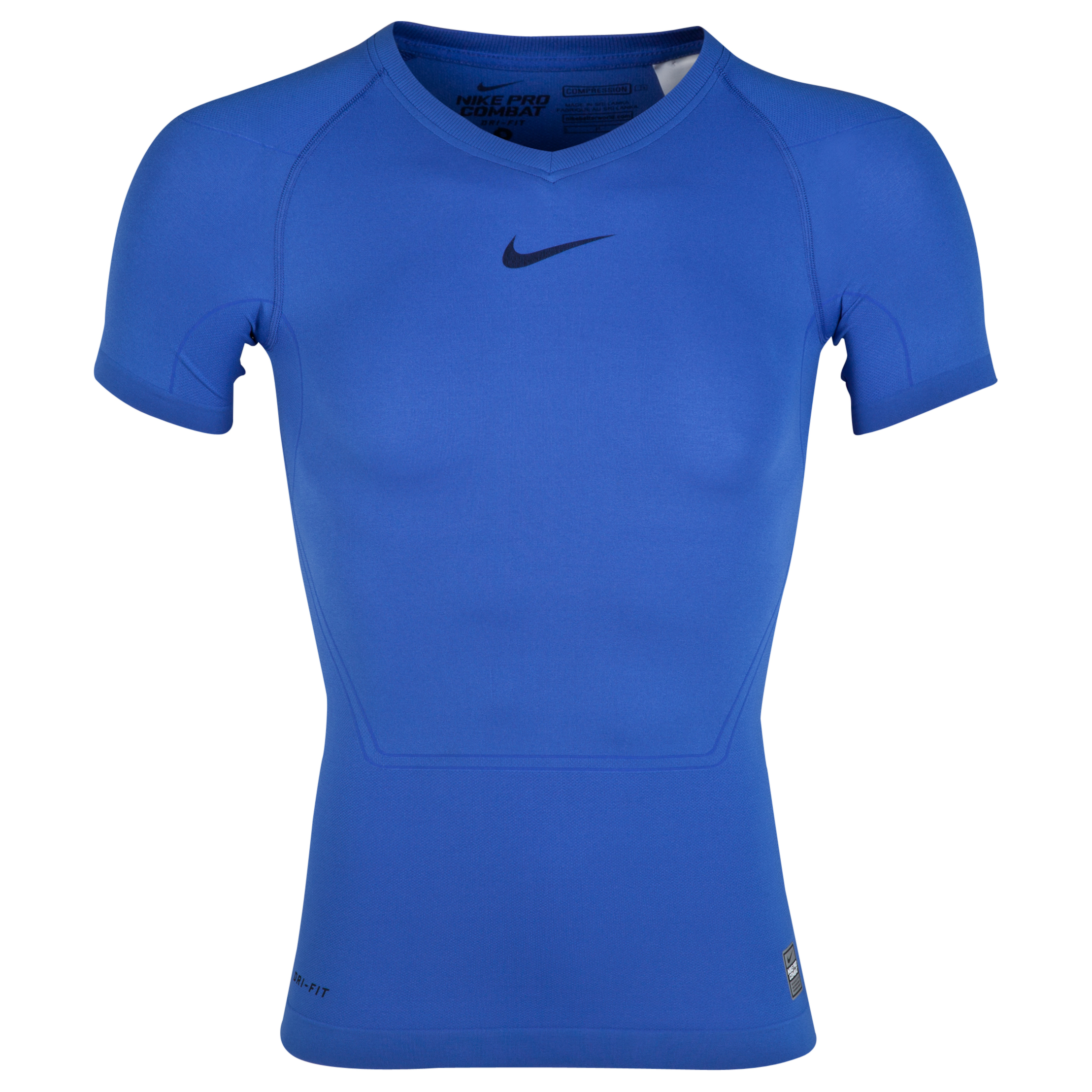 Nike Pro Combat Lightweight Seamless Base Layer Top Blue