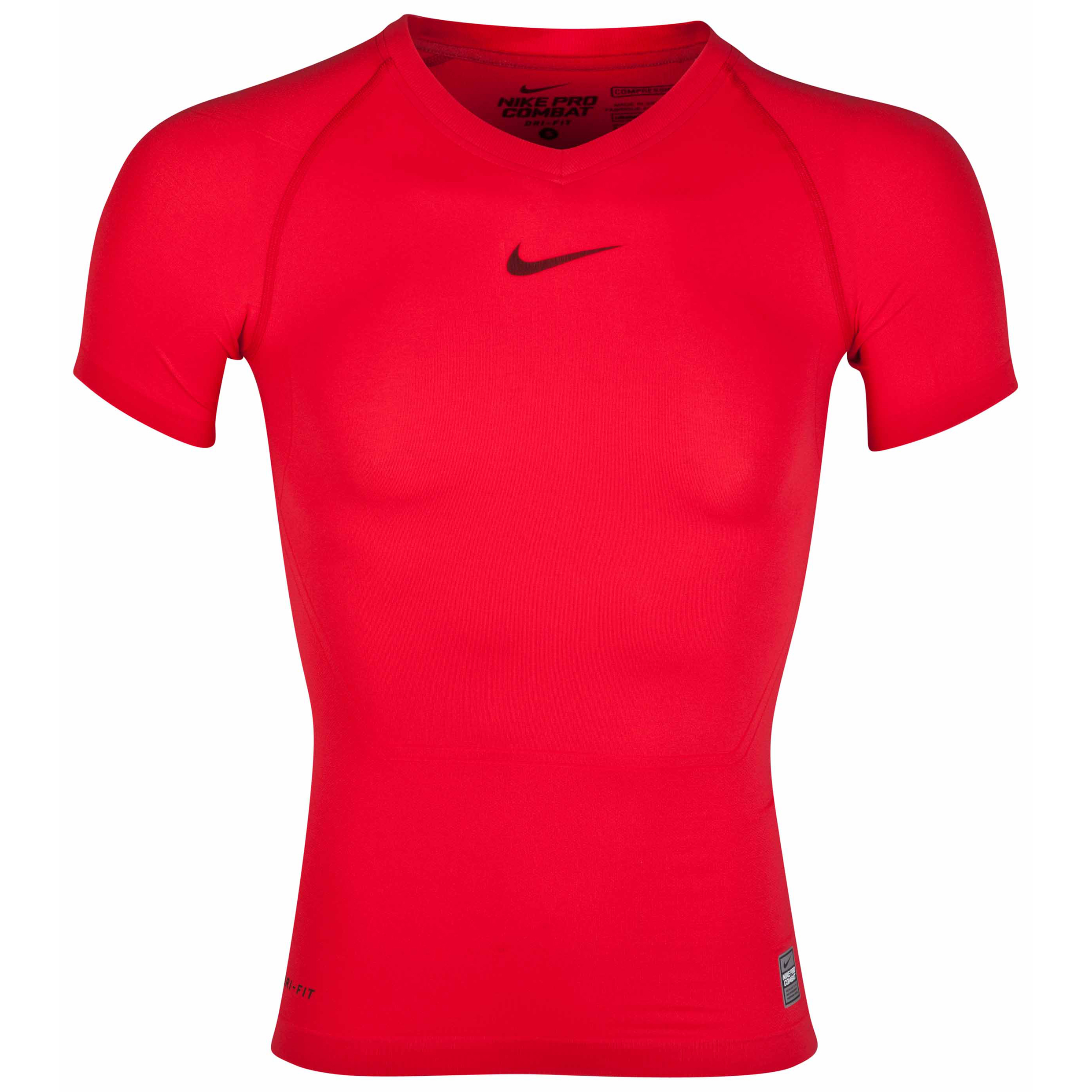 Nike Pro Combat Lightweight Seamless Base Layer Top Red