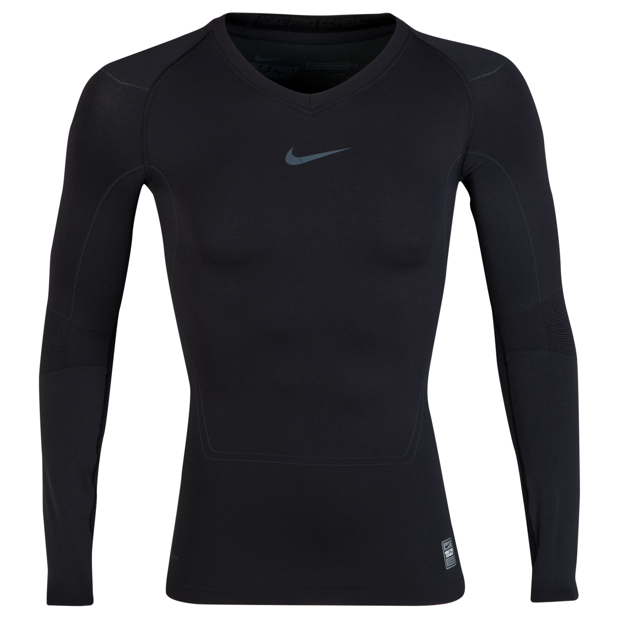 Nike Pro Combat Lightweight Seamless Base Layer Top - Long Sleeve Black