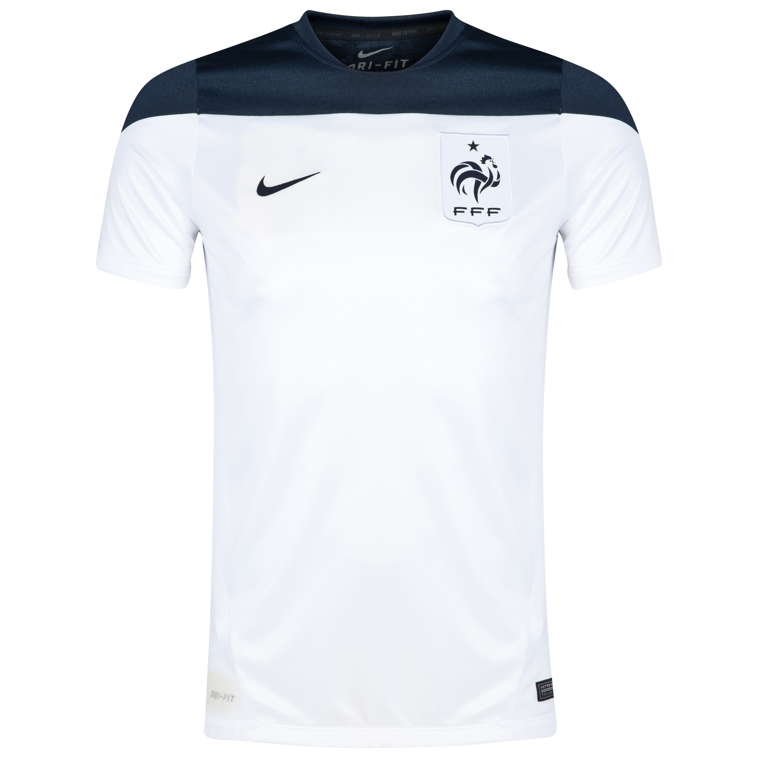 France Squad Short Sleeve Training Top White