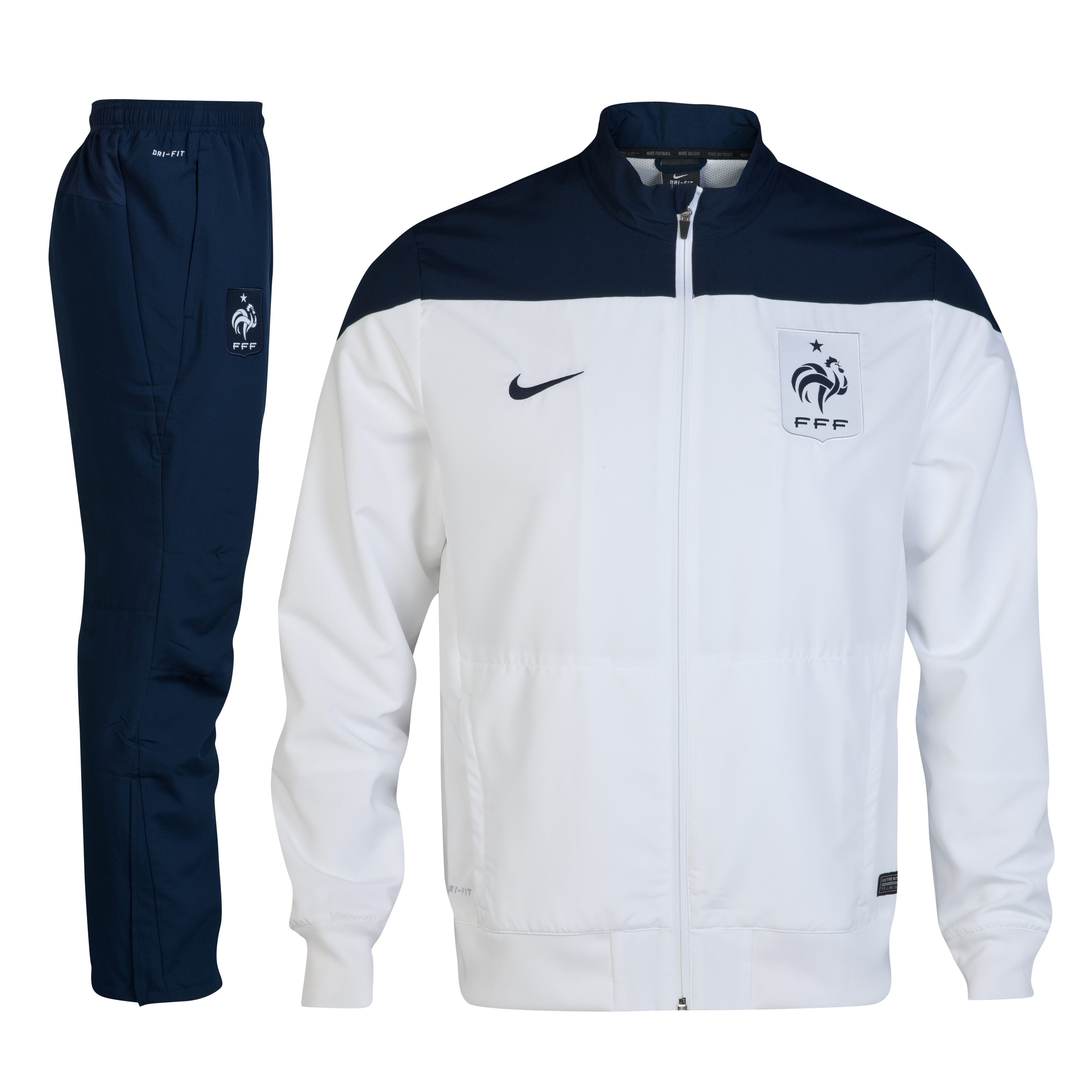 France Squad Sideline Woven Warm Up Tracksuit White