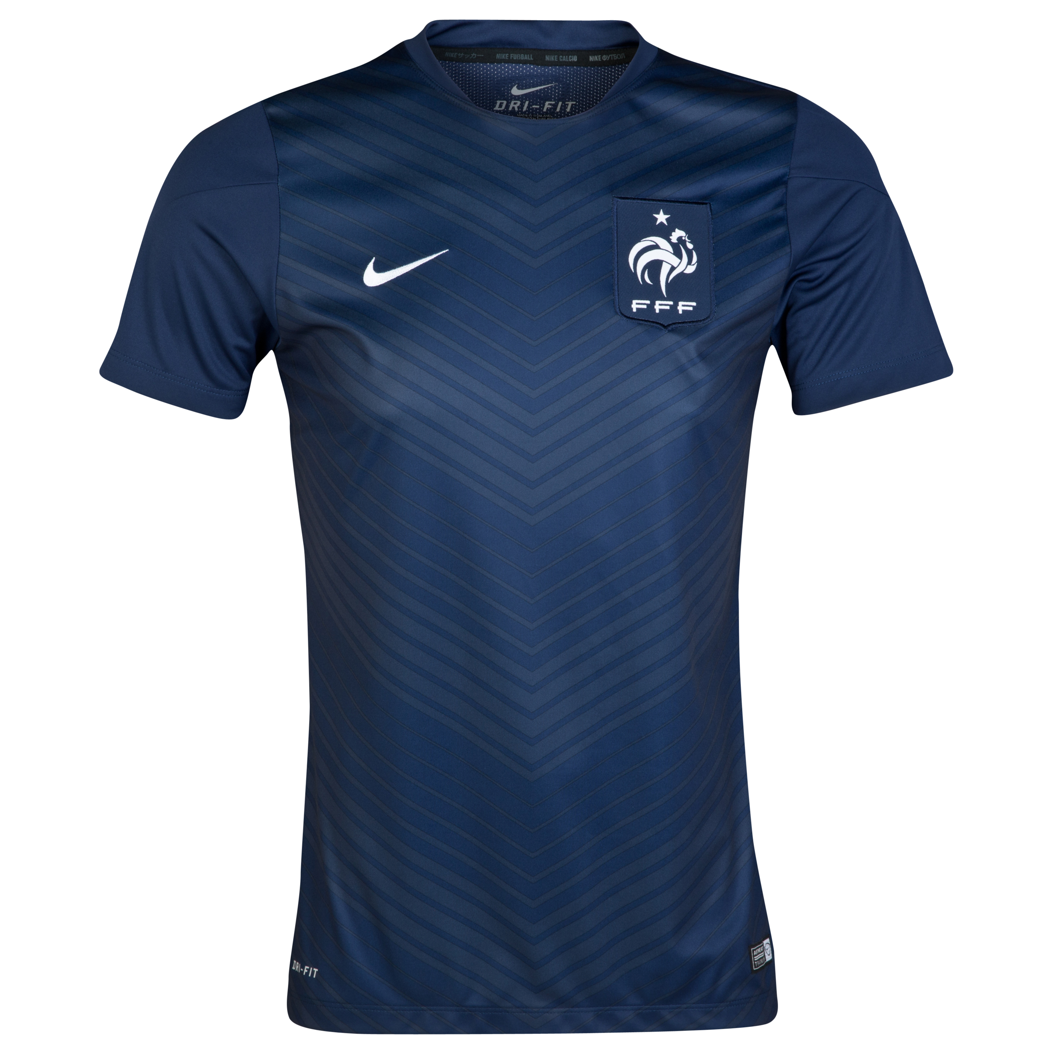 France Squad Short Sleeve Pre Match Top Navy