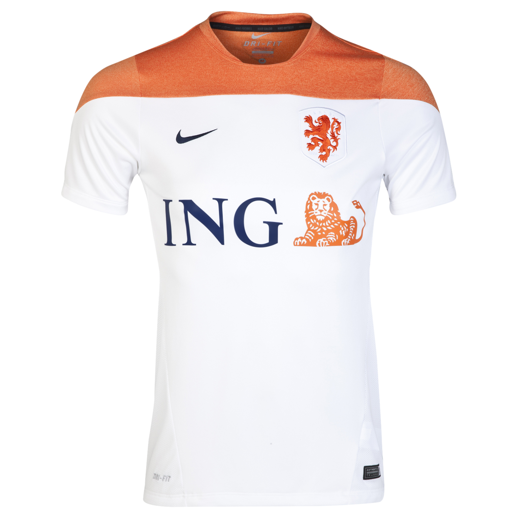 Netherlands Squad Short Sleeve Training Top White