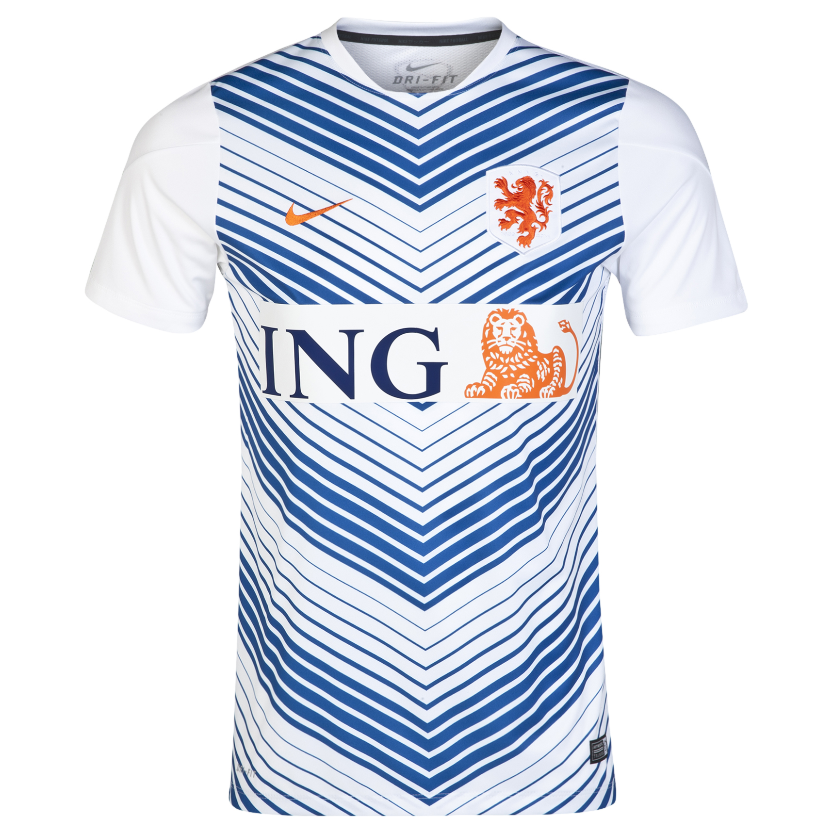 Netherlands Squad Short Sleeve Pre Match Top White