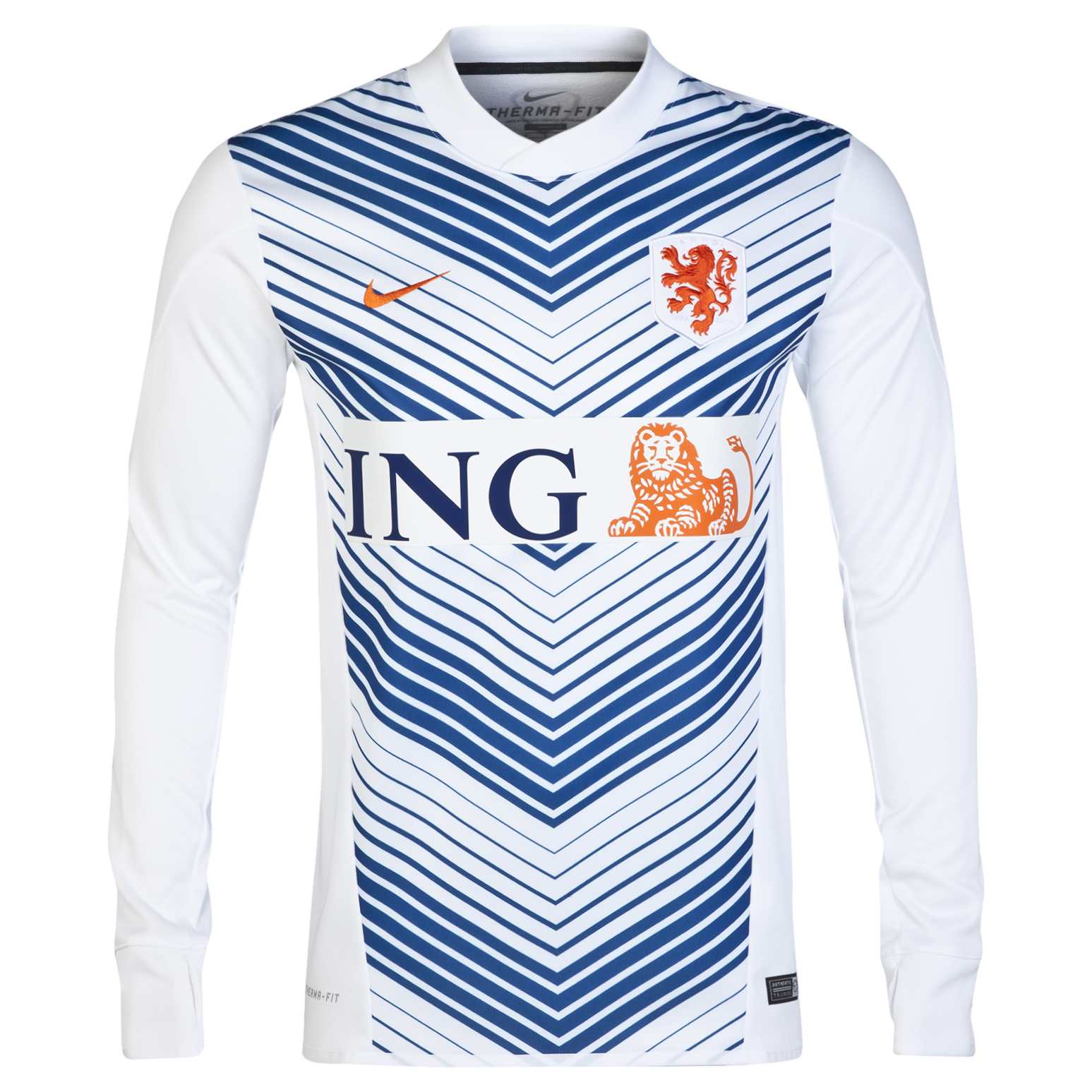 Netherlands Squad Long Sleeve Thermal Pre Match Top White
