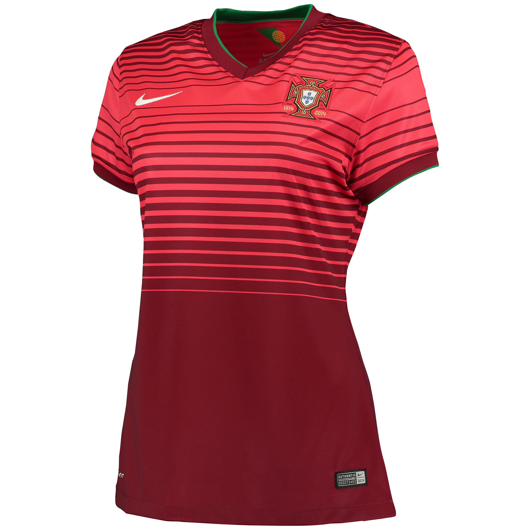 Portugal Home Shirt 201415  Womens Red