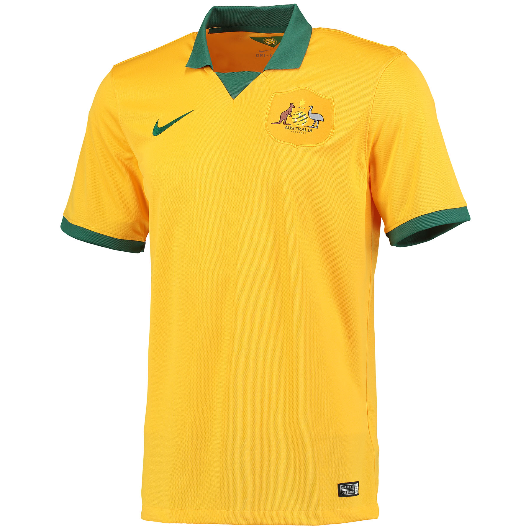 Australia Home Shirt 2014 Gold