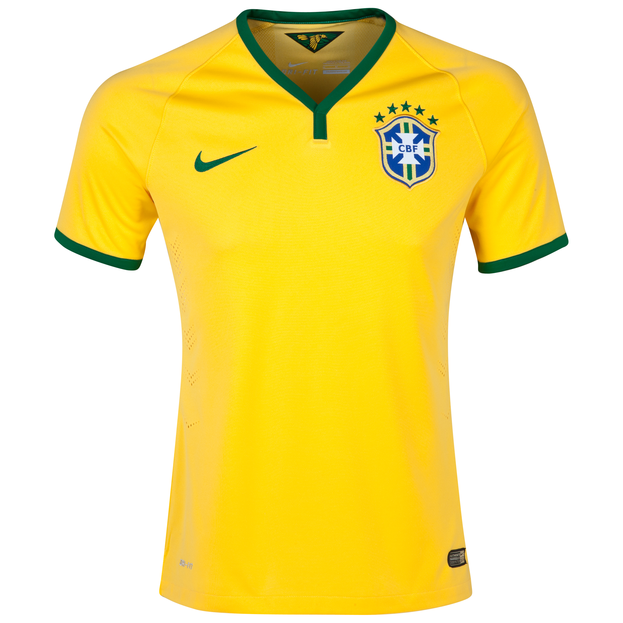 Brazil Match Home Shirt 2013/14 Yellow