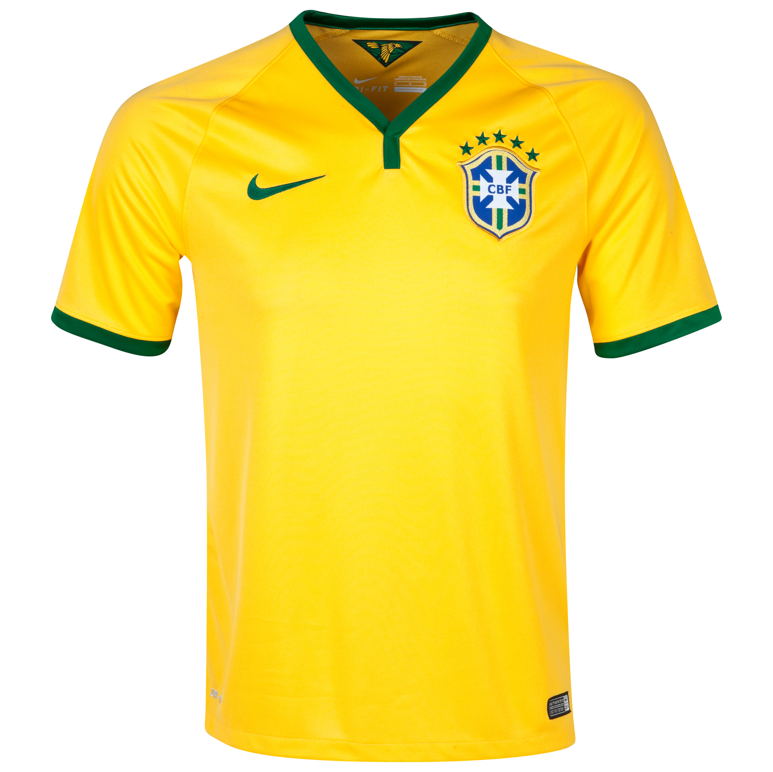 Brazil Home Shirt 2013/14 - Kids Yellow