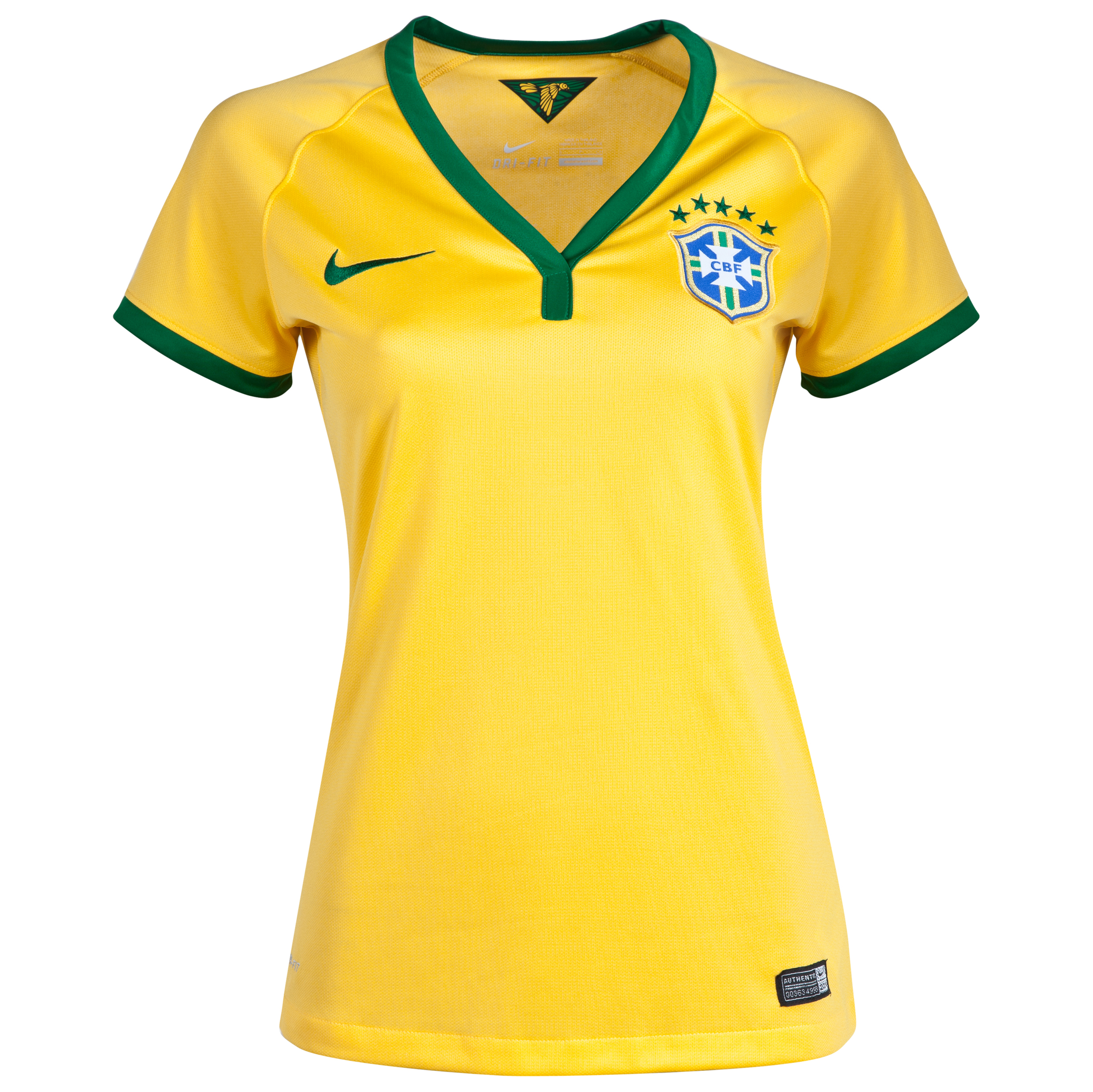 Brazil Home Shirt Yellow 2013/15 -Wms