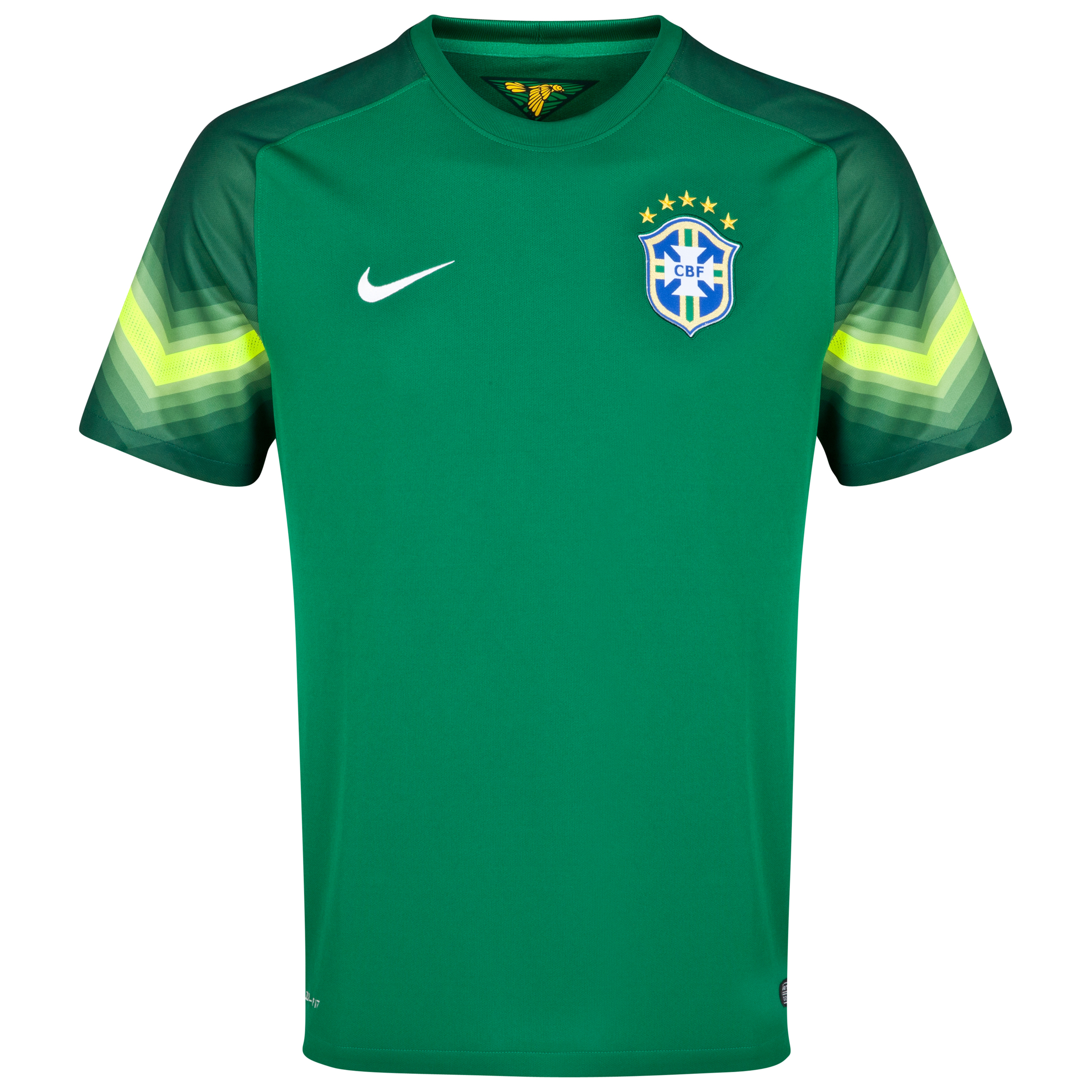 Brazil Away Goalkeeper Shirt 2013/15 Green