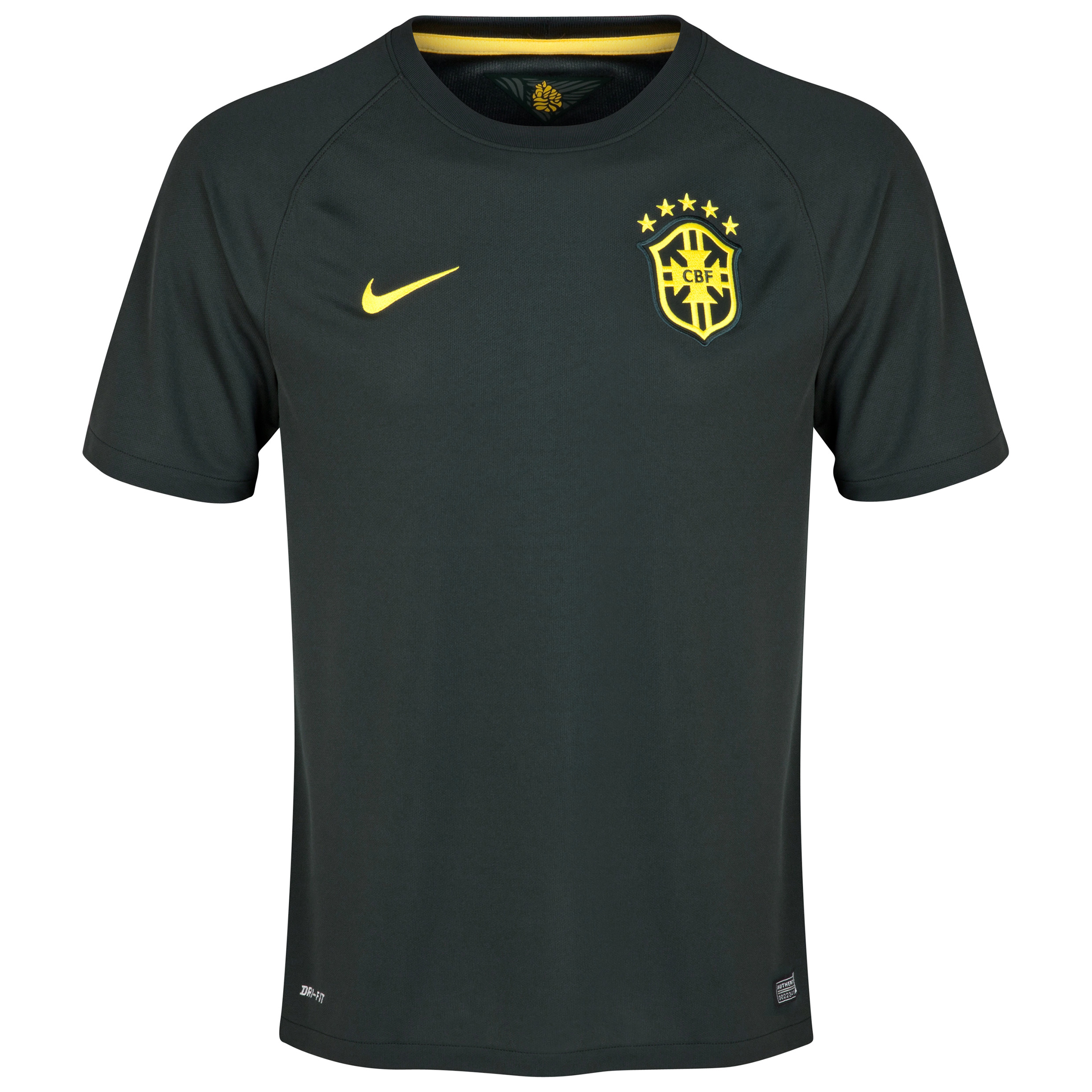 Brazil Third Shirt 2014- Kids Black