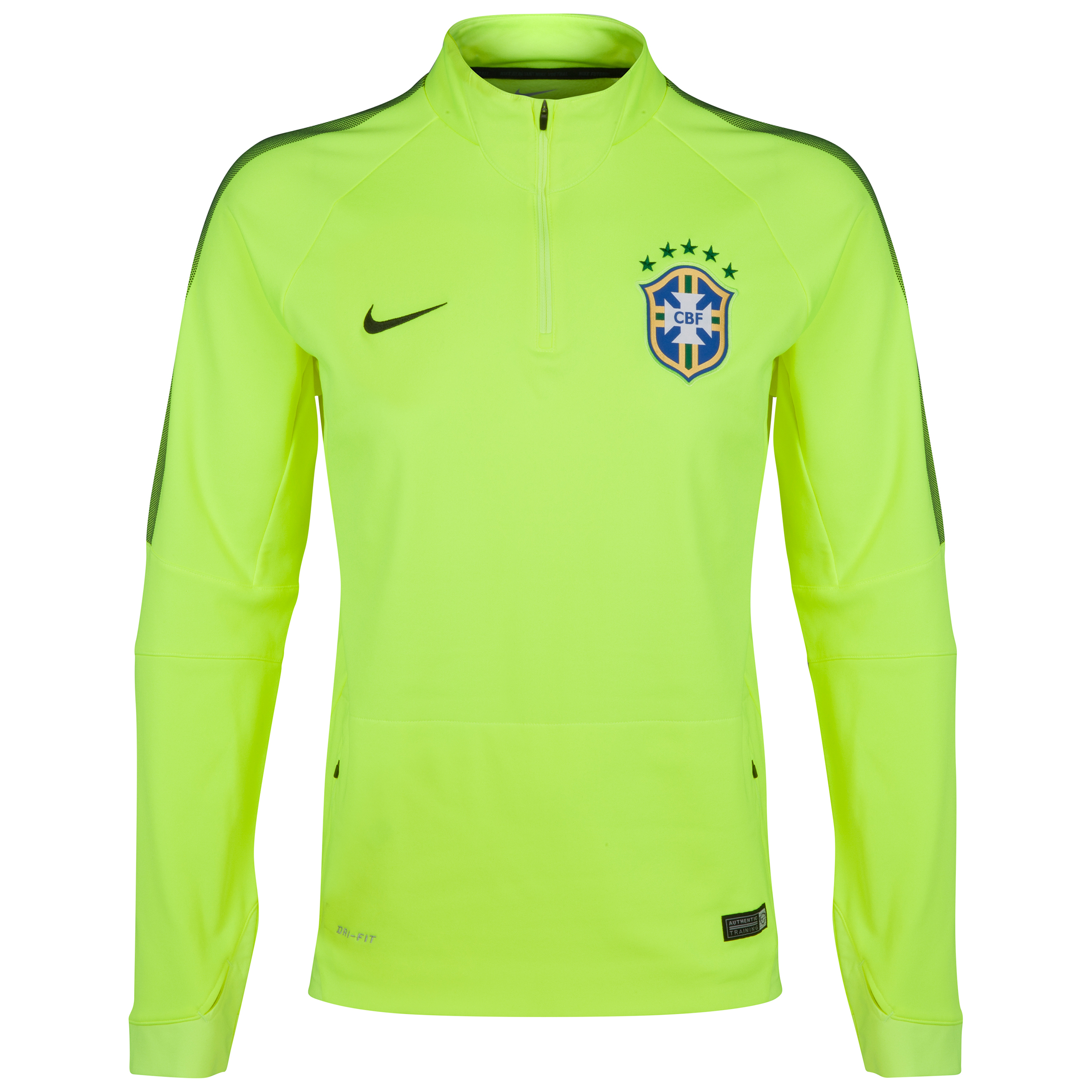 Brazil Squad Long Sleeve Midlayer Top Yellow