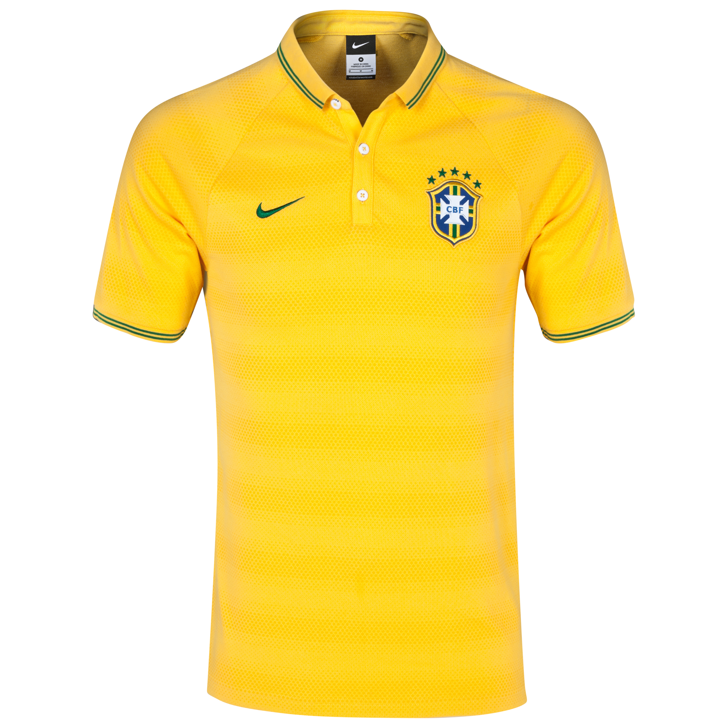 Brazil Authentic Polo Yellow