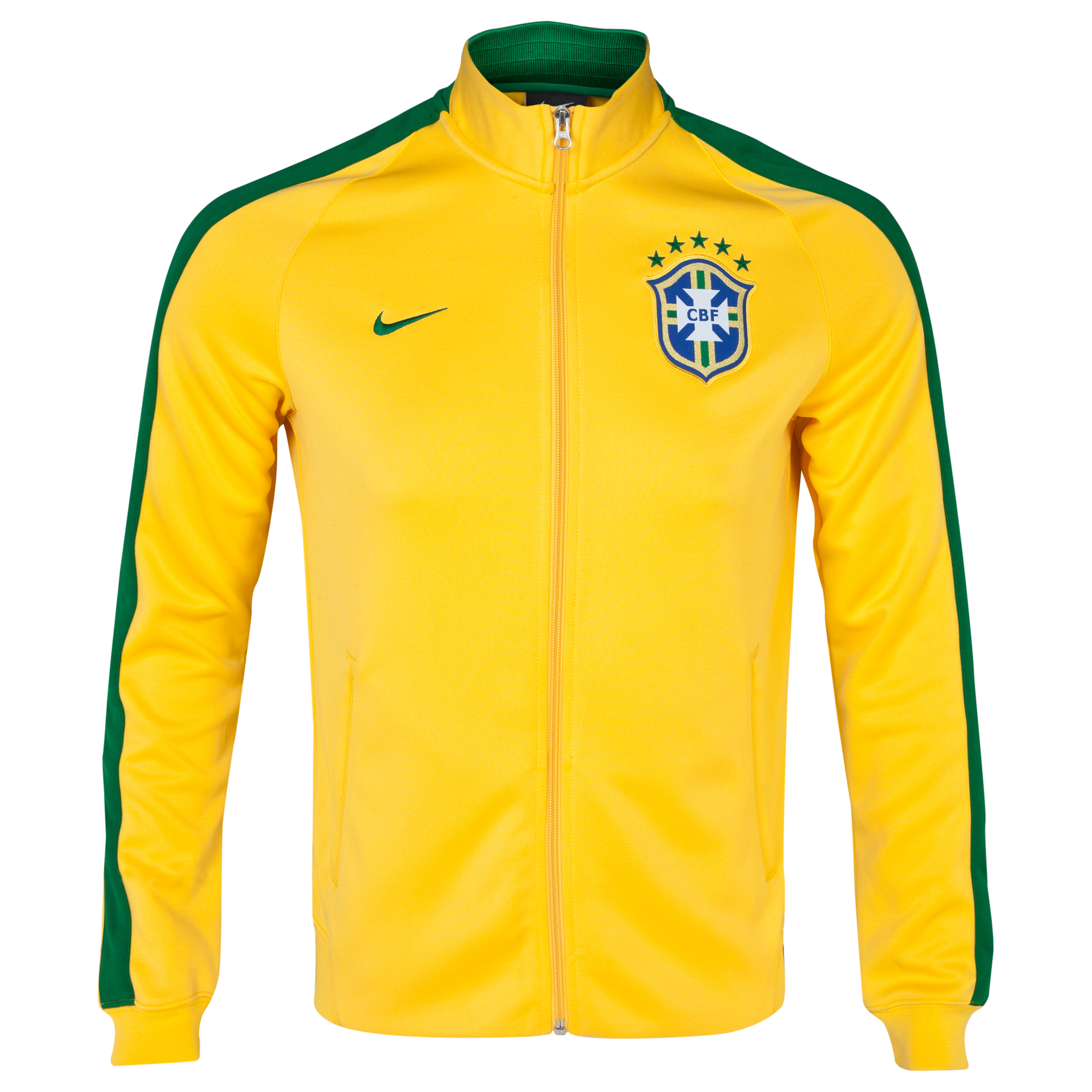 Brazil Authentic N98 Track Jacket - Kids Yellow