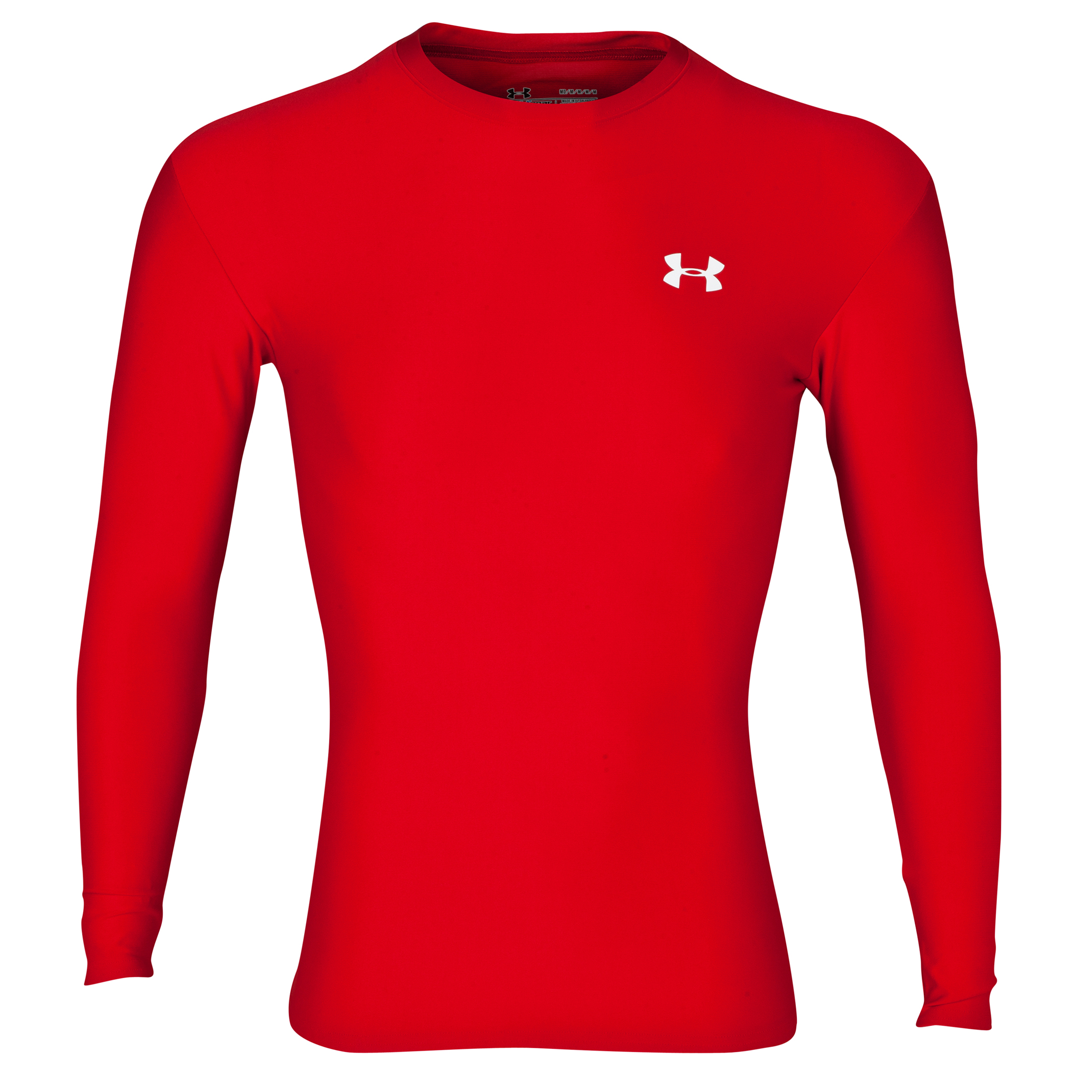 Under Armour Evo Coldgear crew 11 Base Layer Top - Long Sleeve Red