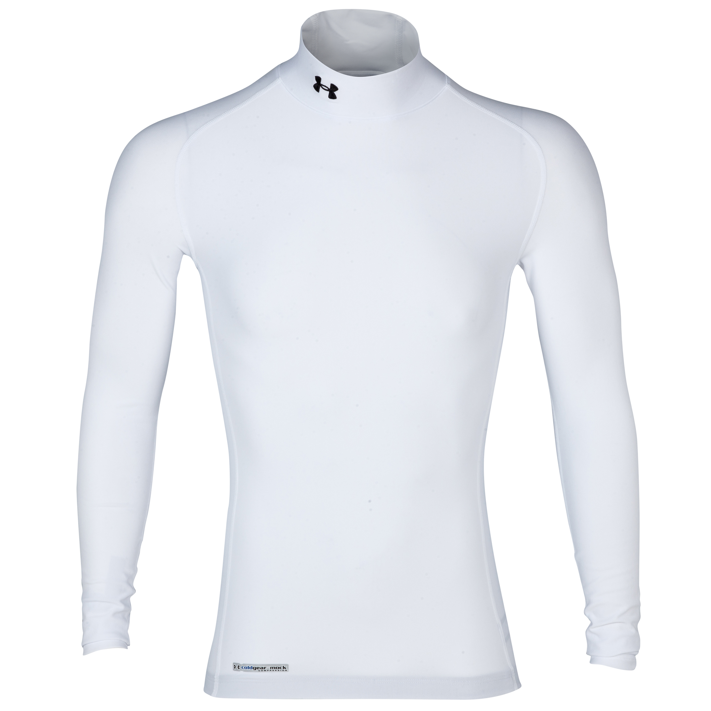 Under Armour Evo Coldgear mock Base Layer Top - Long Sleeve White