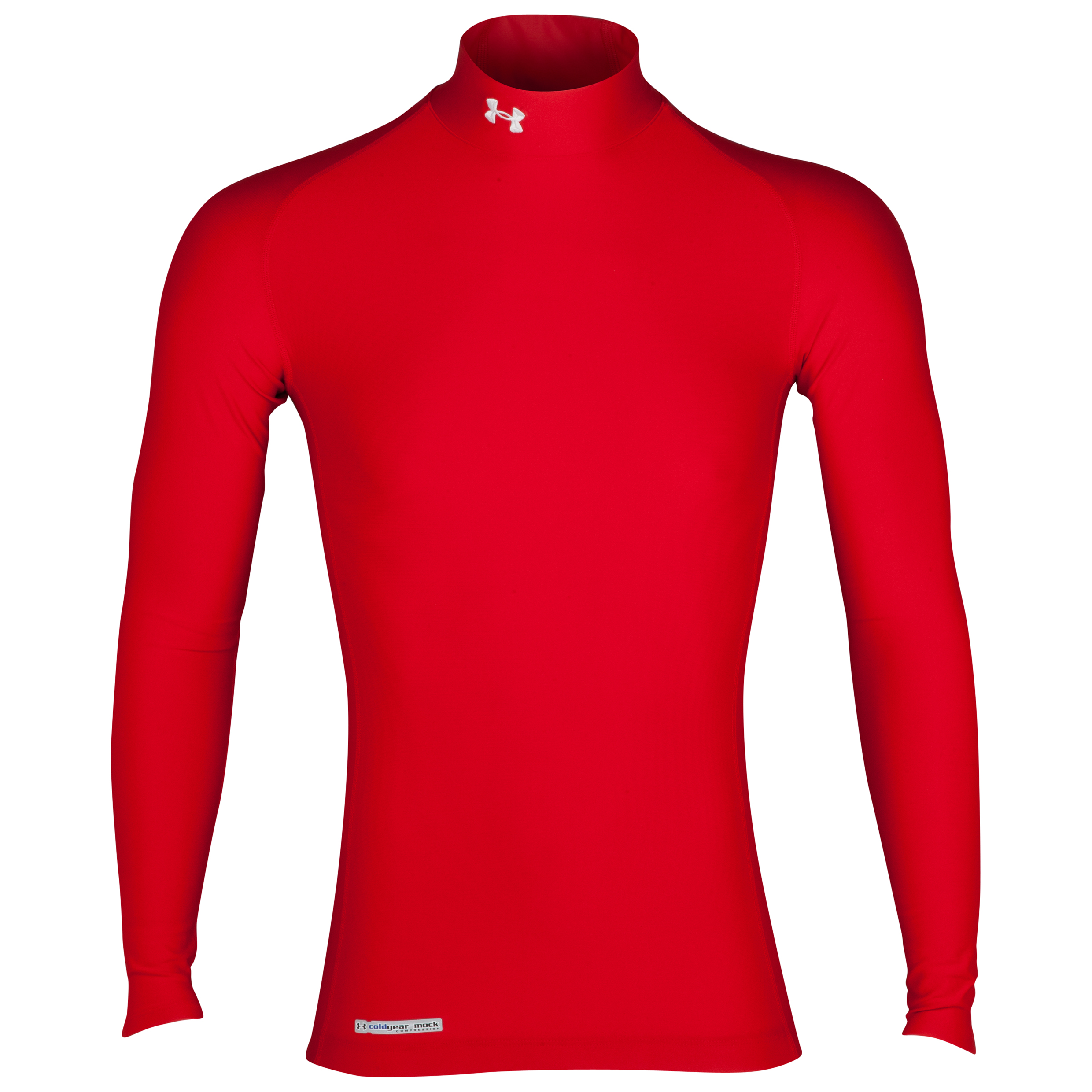 Under Armour Evo Coldgear mock Base Layer Top - Long Sleeve Red