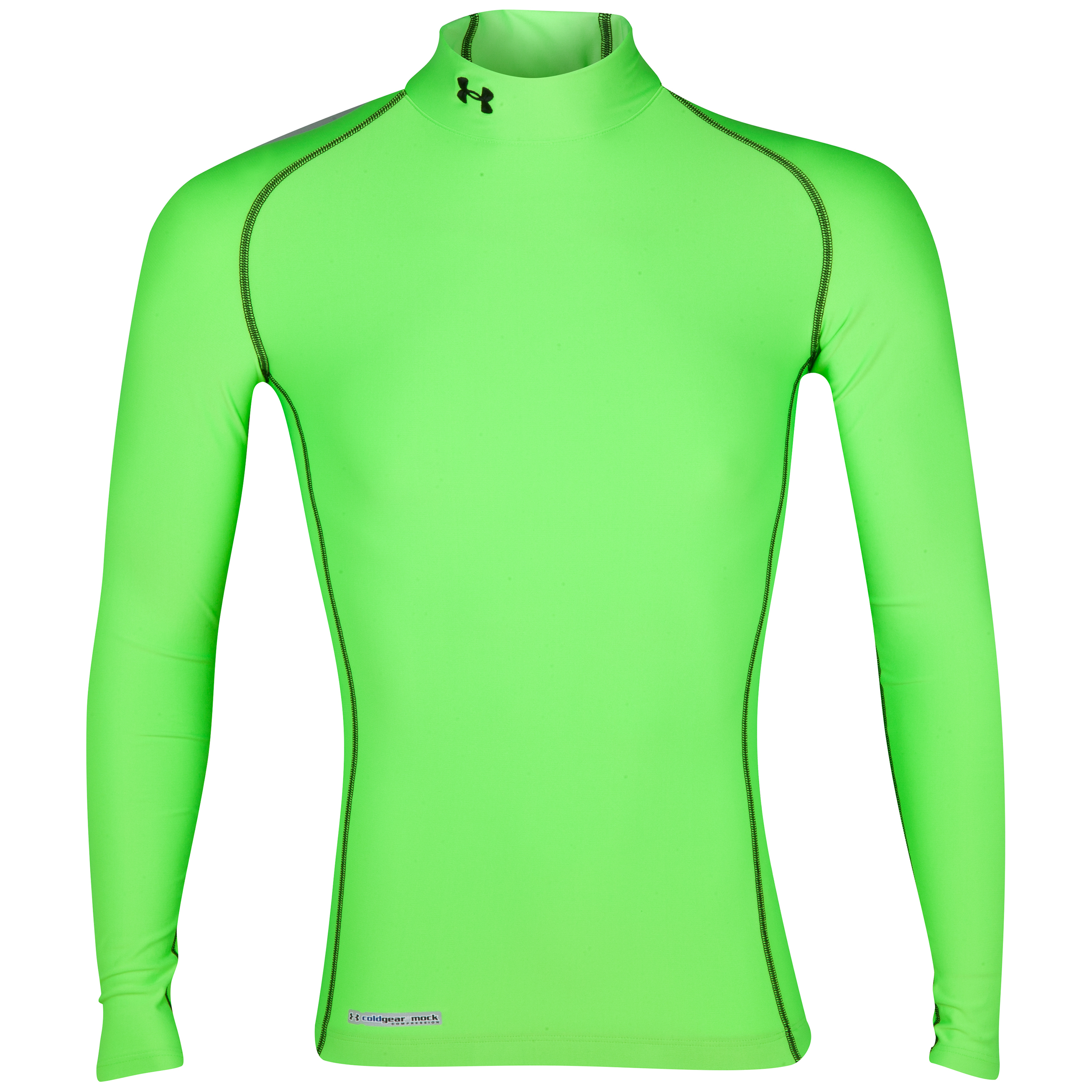 Under Armour Evo Coldgear mock Base Layer Top - Long Sleeve Green
