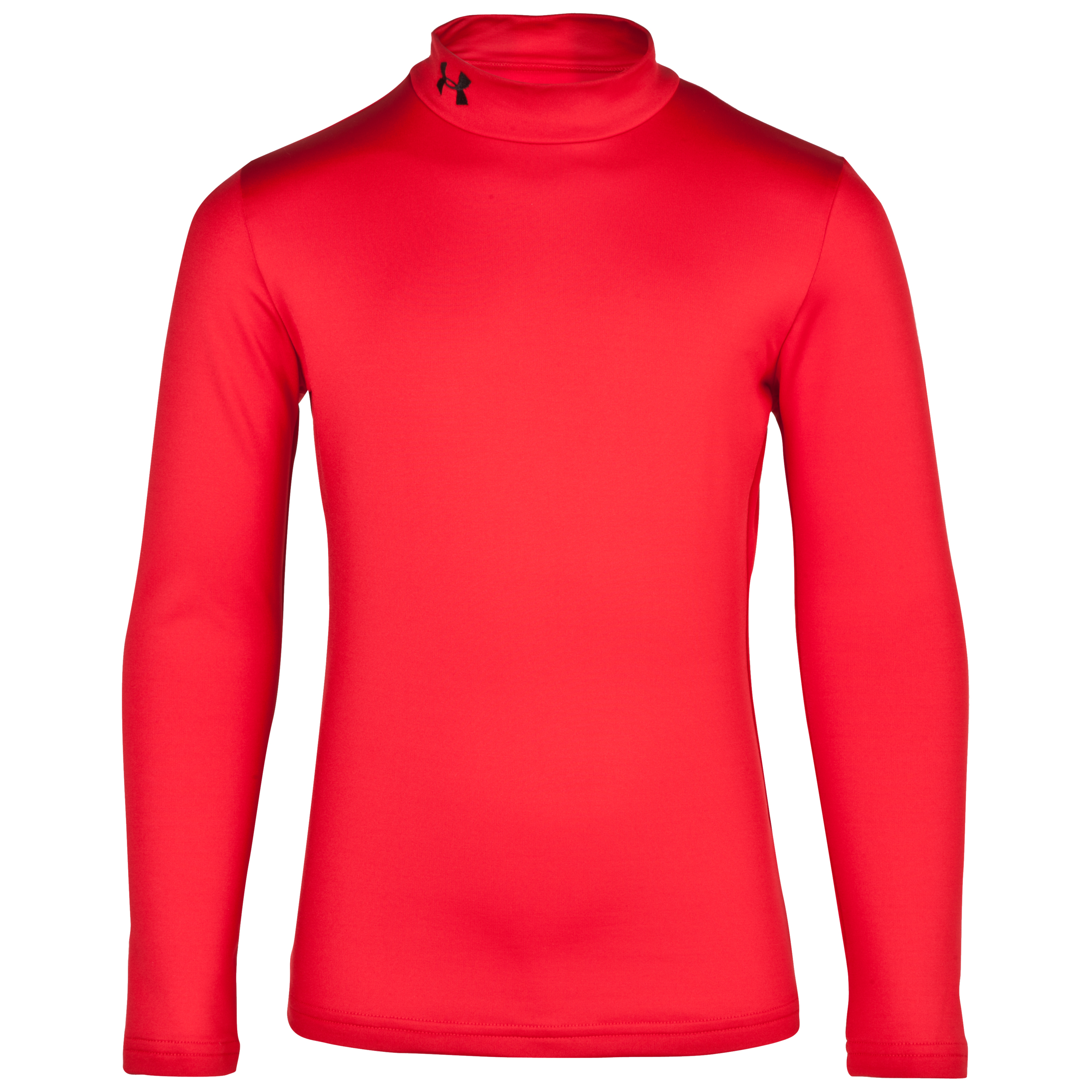 Under Armour Evo Coldgear Mock Base Layer Top - Long Sleeve - Kids Red