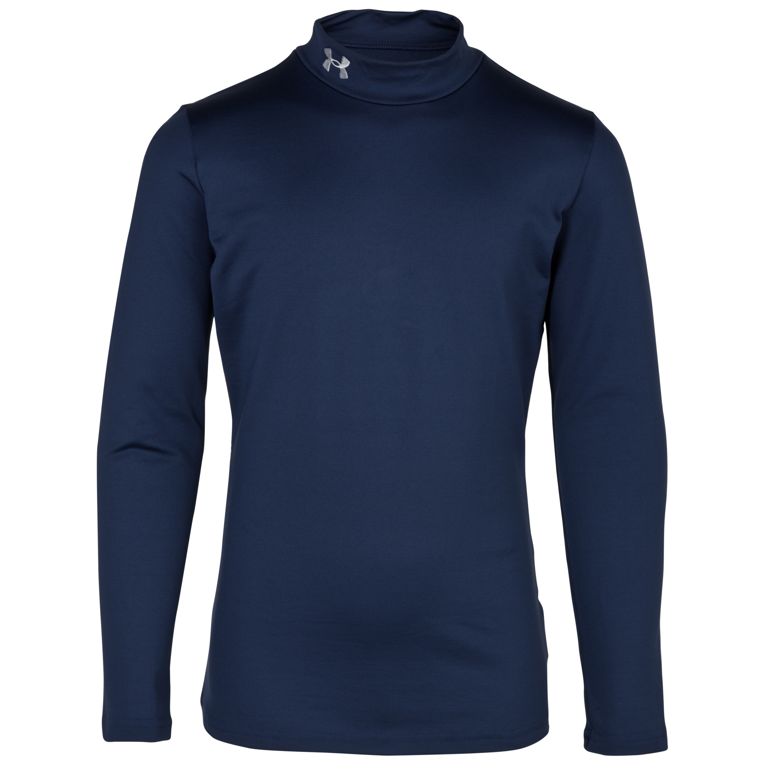 Under Armour Evo Coldgear Mock Base Layer Top - Long Sleeve - Kids Navy