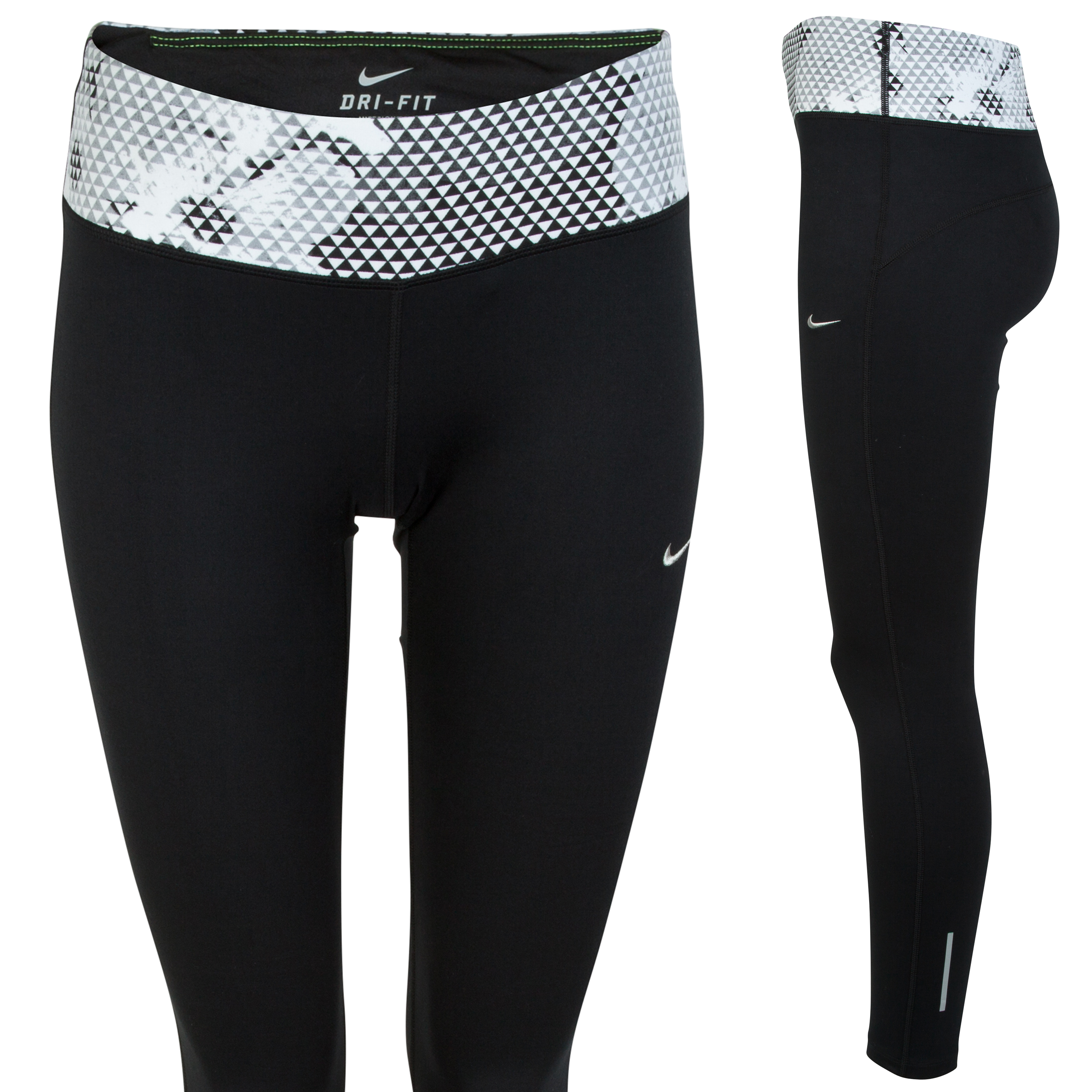 Nike Epic Run Printed Tight Womens Black