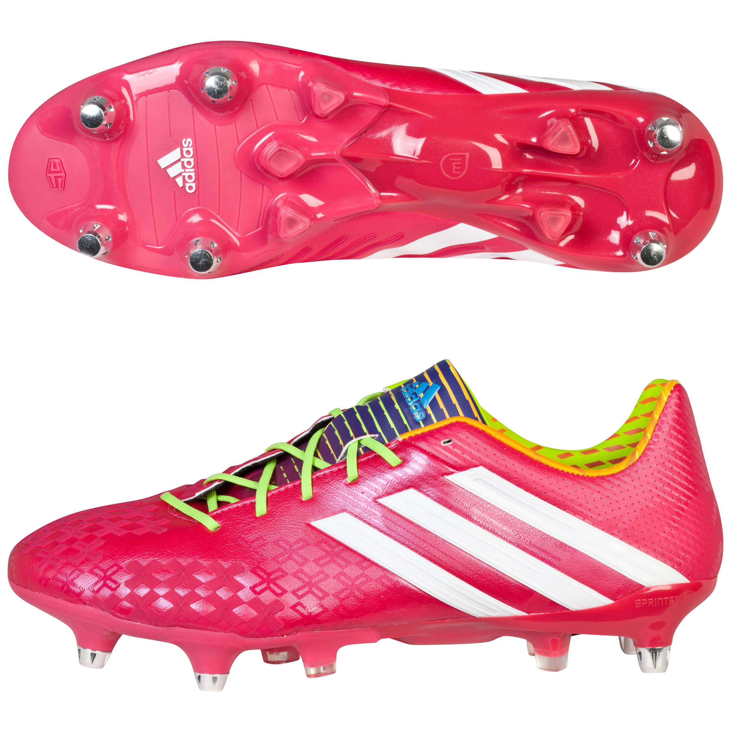 Adidas Predator LZ XTRX Soft Ground Football Boots Pink