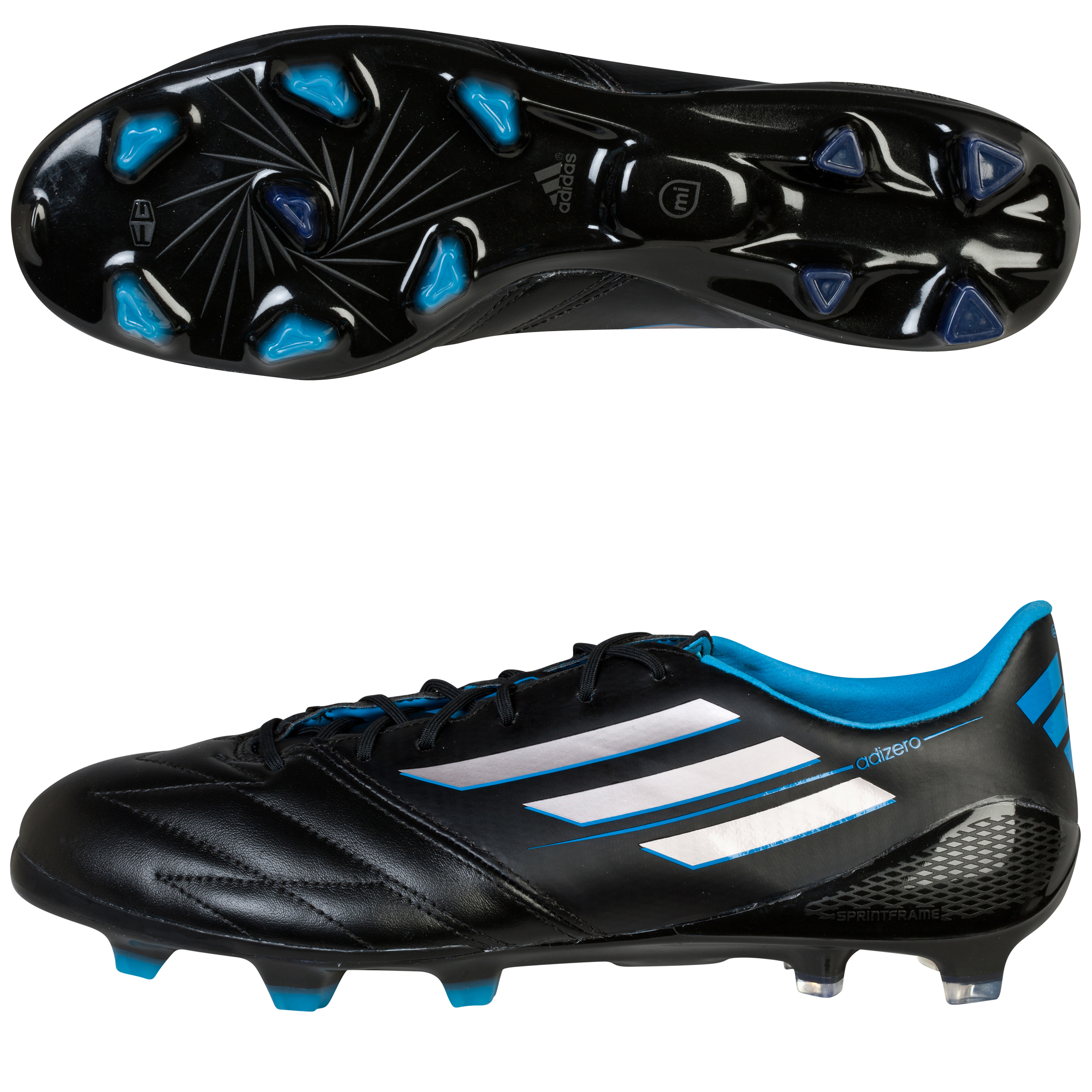 Adidas F50 adiZero TRX Leather Firm Ground Football Boots Black