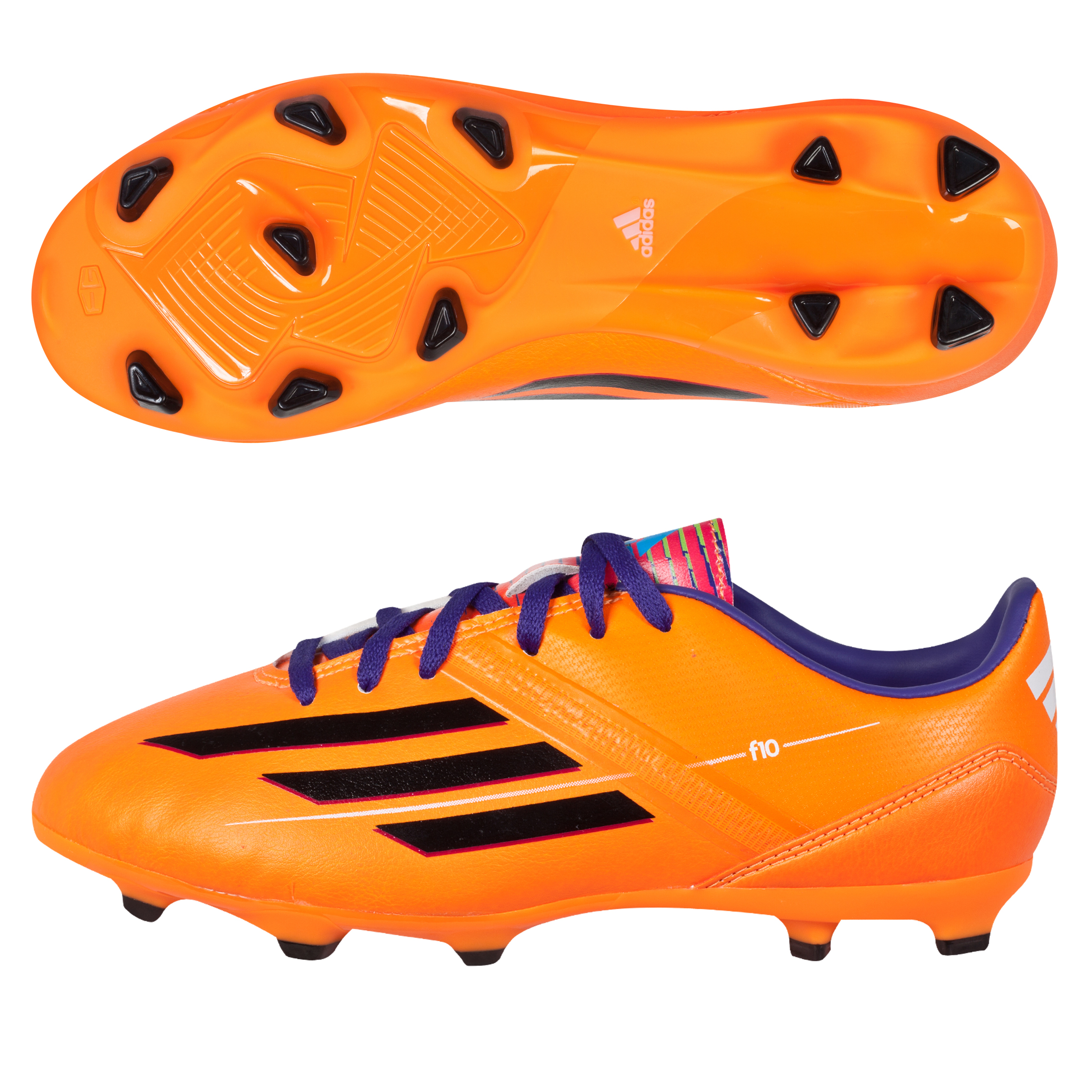 Adidas F10 TRX Firm Ground Football Boots - Kids Orange