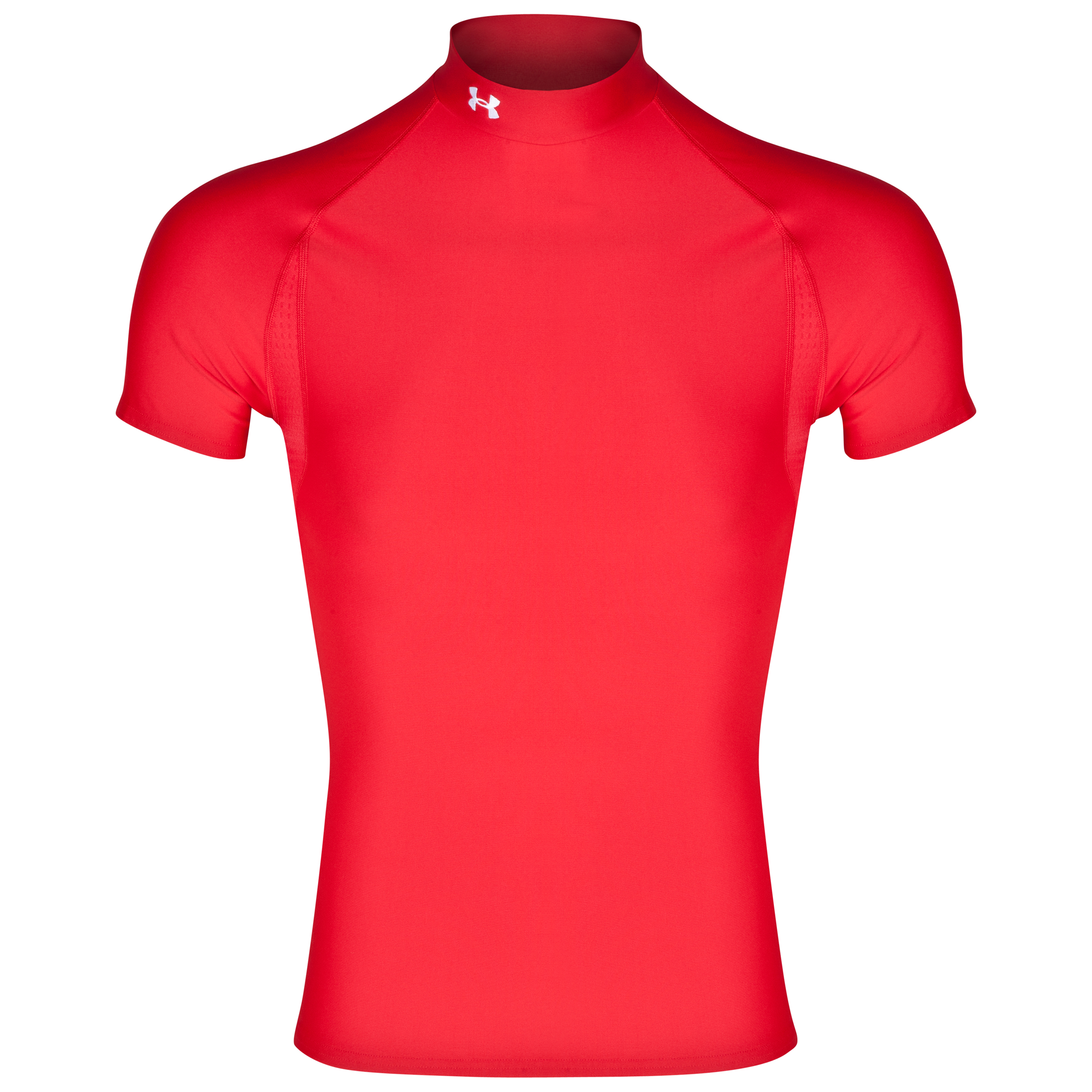 Under Armour Evo Coldgear Mock Base Layer Top Red