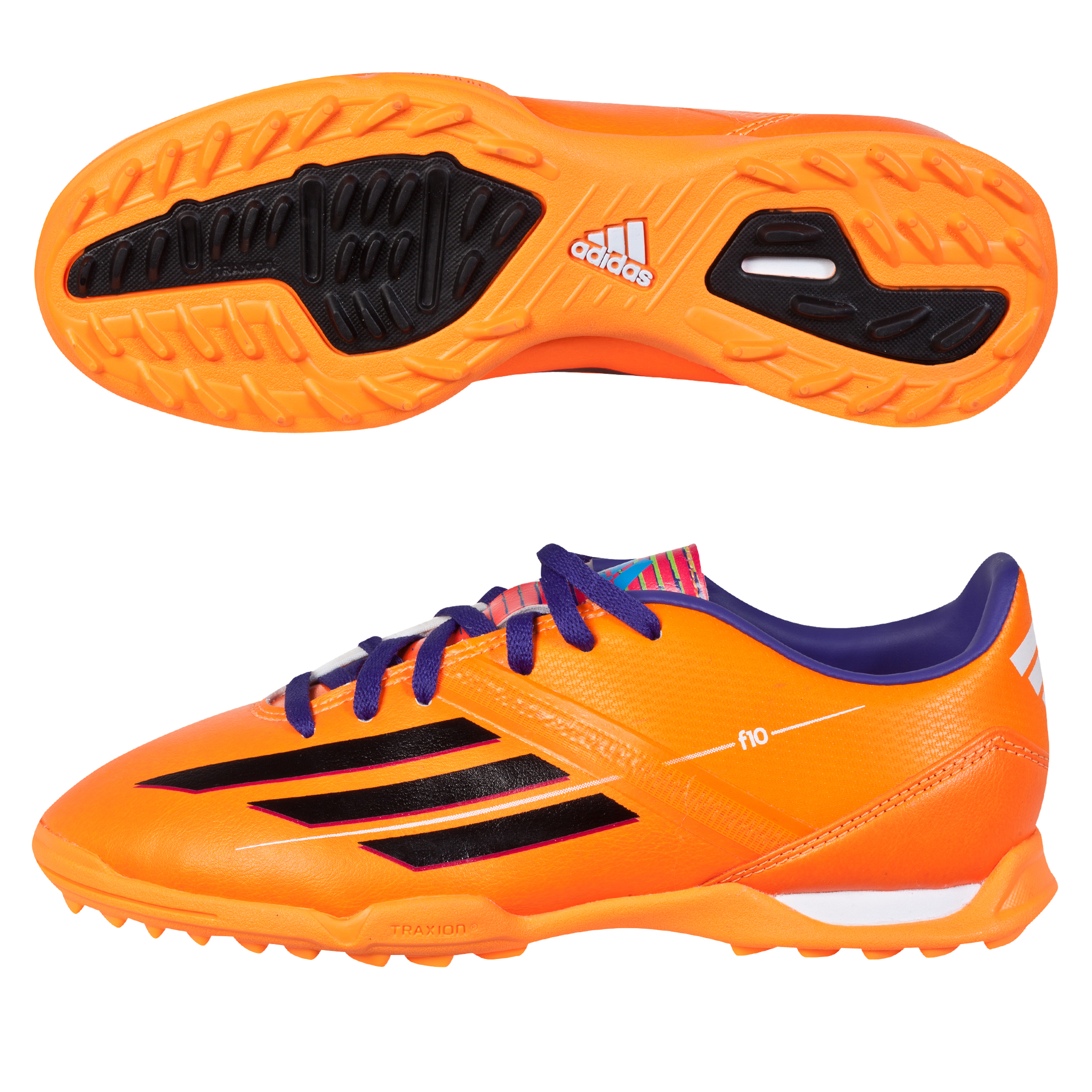 Adidas F10 TRX Astroturf Trainers - Kids Orange