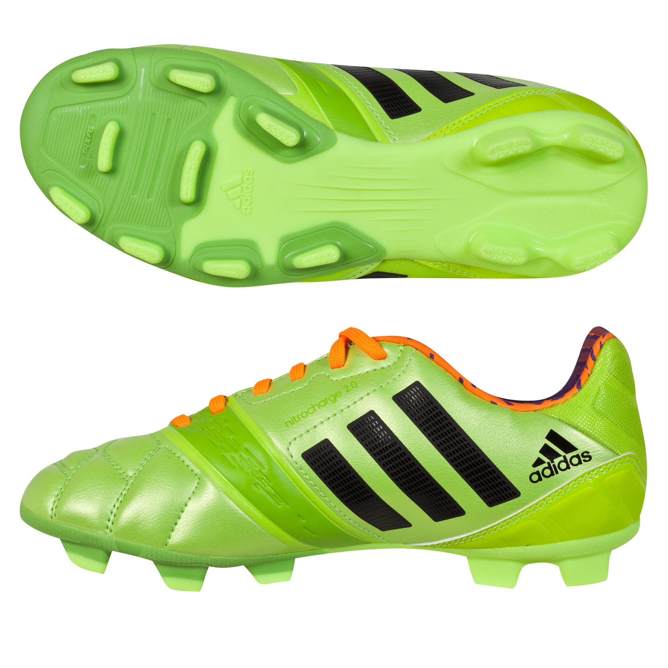 Adidas Nitrocharge 2.0 TRX Firm Ground Football Boots - Kids Green