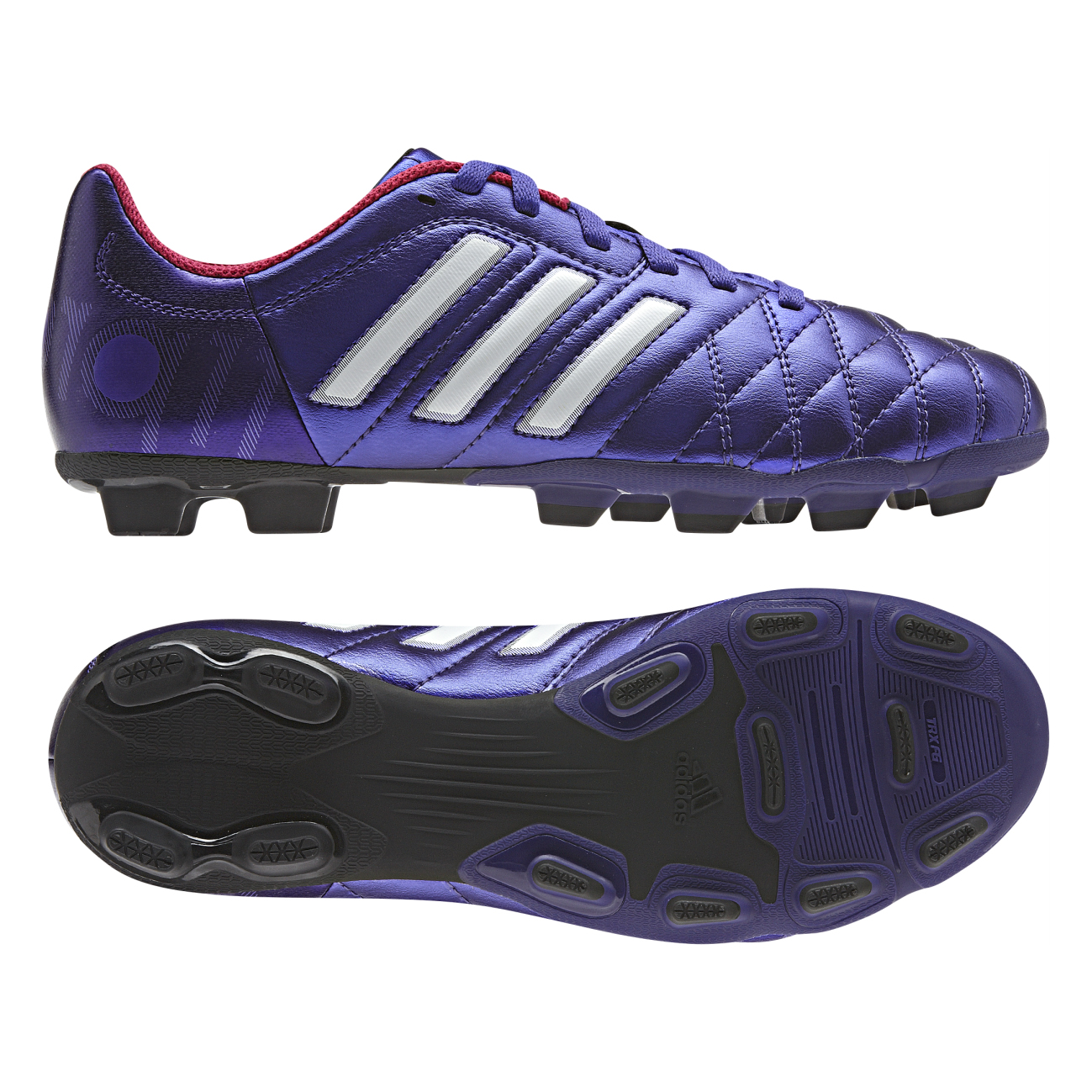 Adidas 11Questra TRX Firm Ground Football Boots - Kids Purple