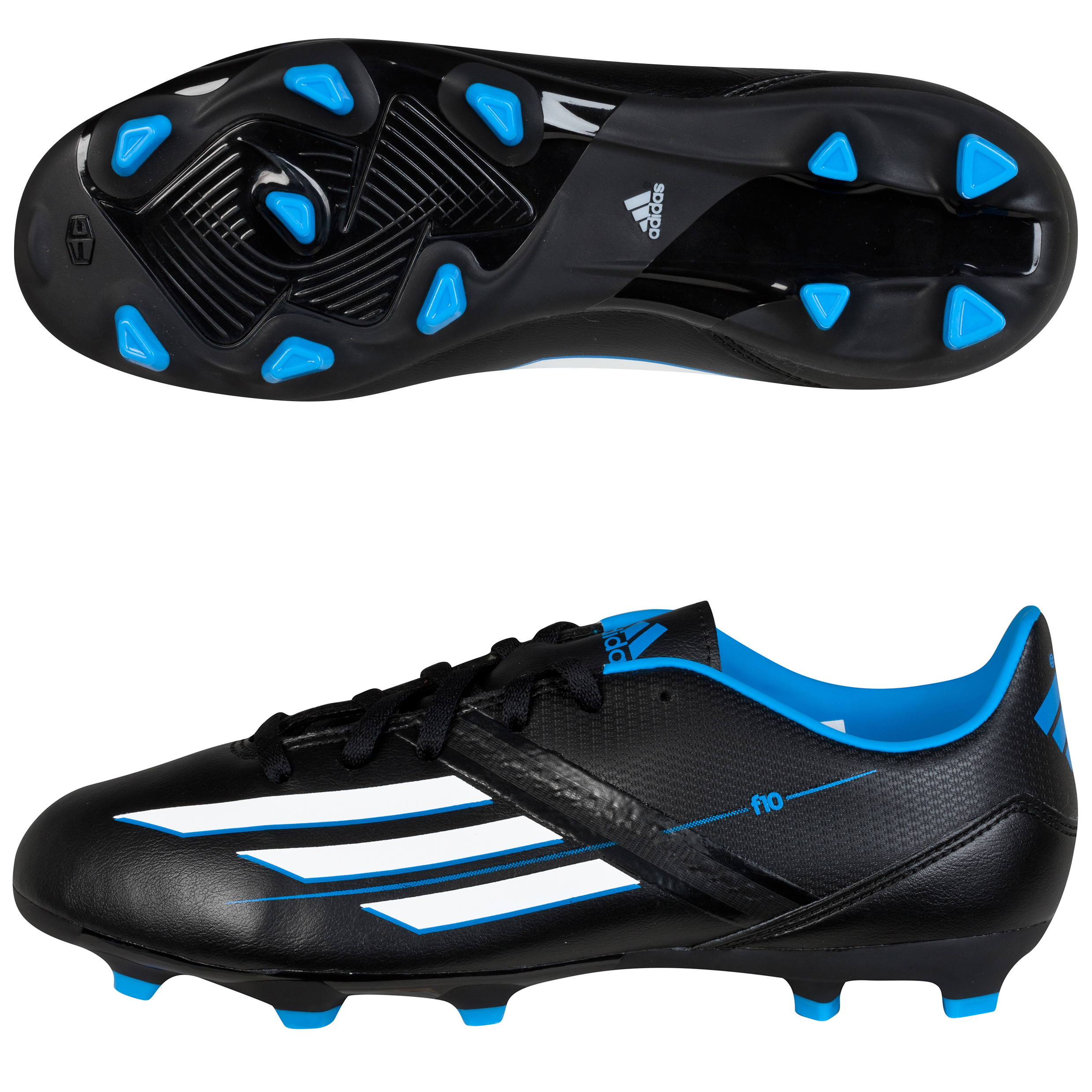 Adidas F10 TRX Firm Ground Football Boots - Kids Black