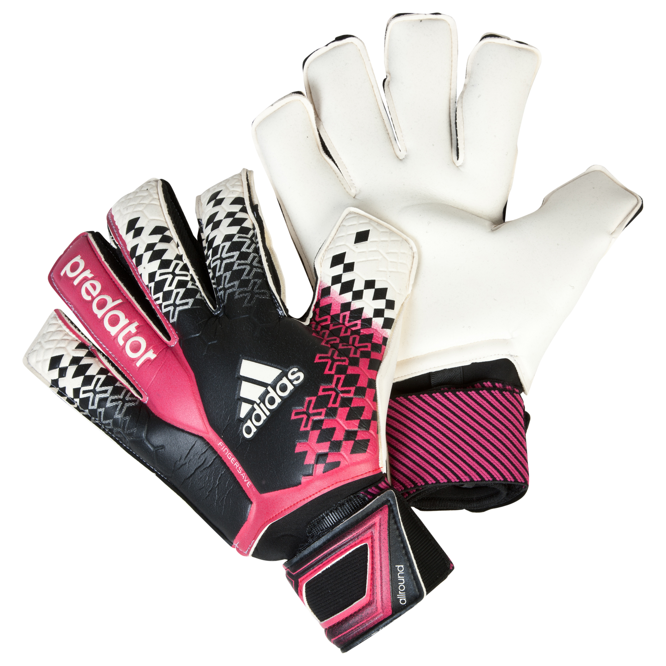 Adidas Predator Fingersave All-Round Goalkeeper Gloves Black