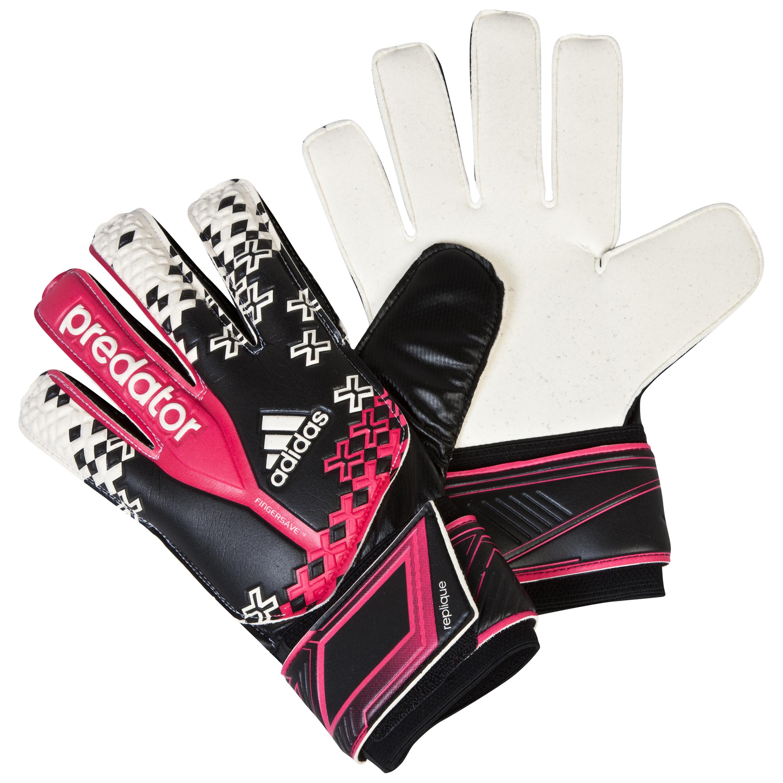 Adidas Predator Fingersave Replique Goalkeeper Gloves Black