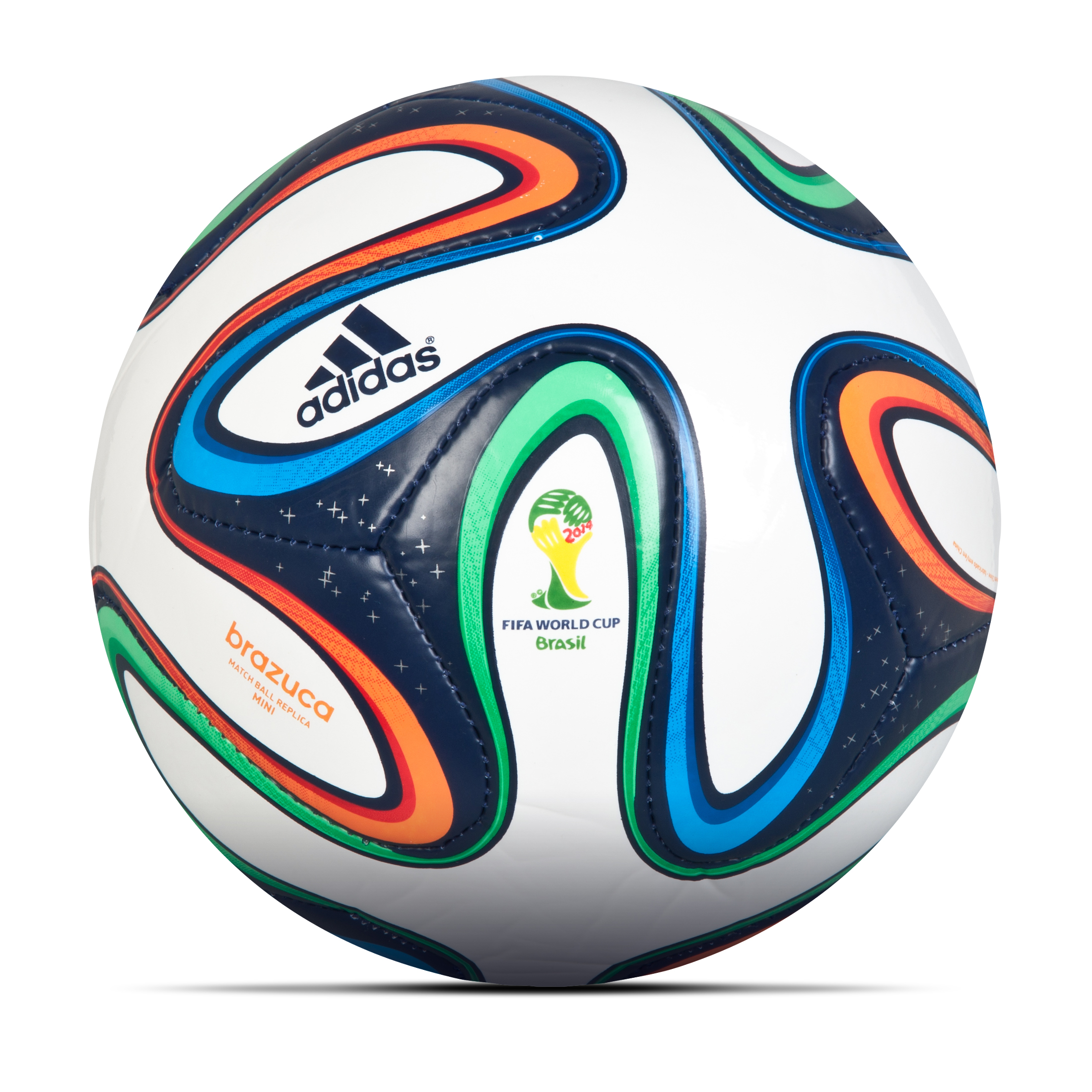 Adidas Brazuca Mini Football - Size 1 White