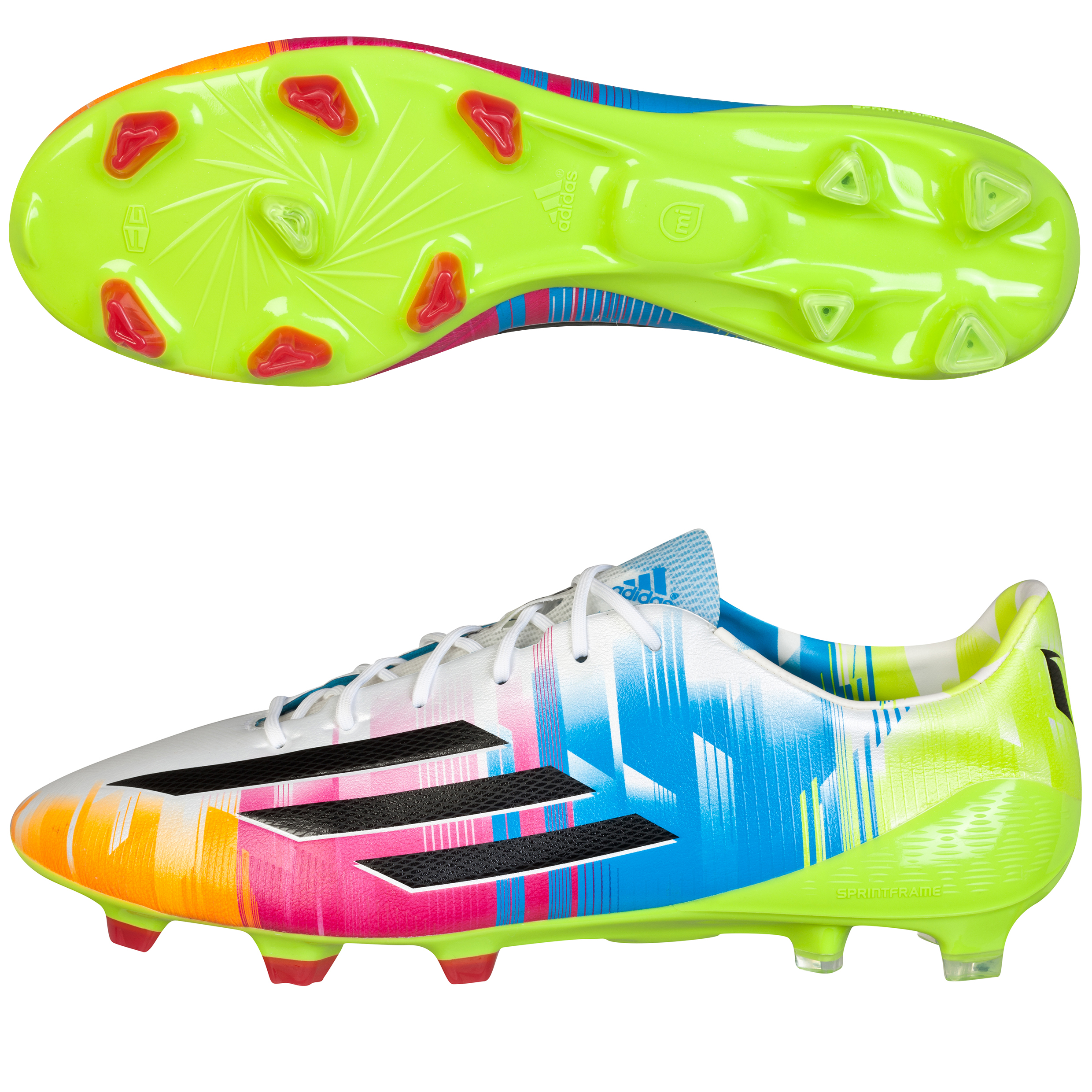 Adidas F50 adiZero Messi TRX Firm Ground Football Boots White