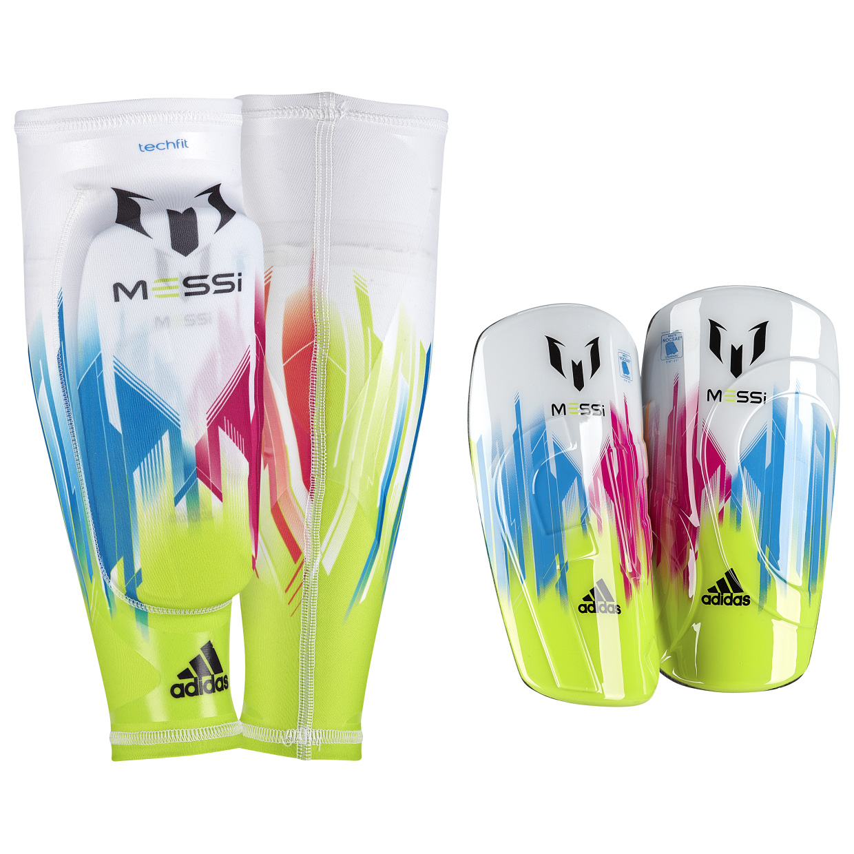 Adidas F50 Pro Lite Messi Shinguards White