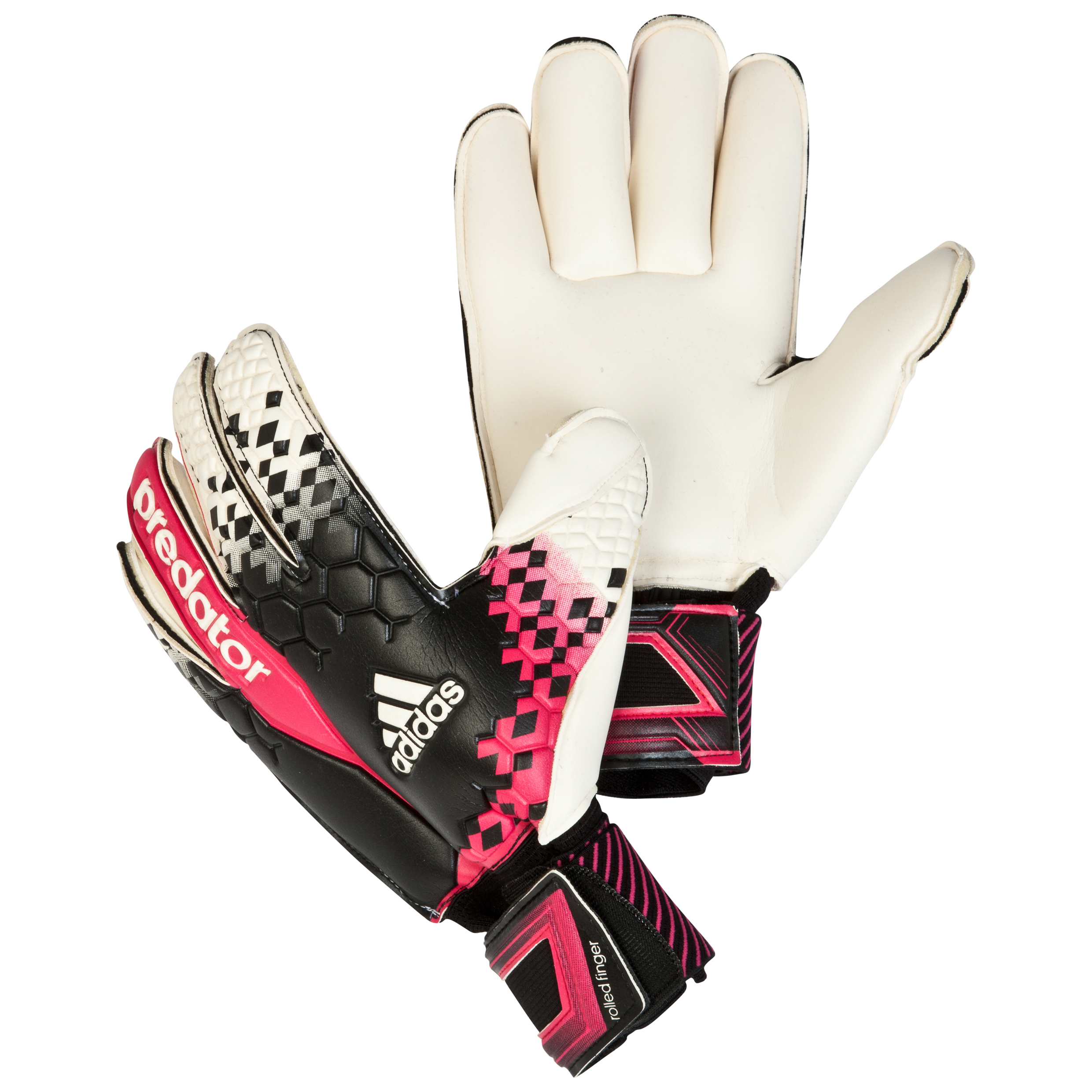 Adidas Predator Roll Finger Goalkeeper Gloves Black