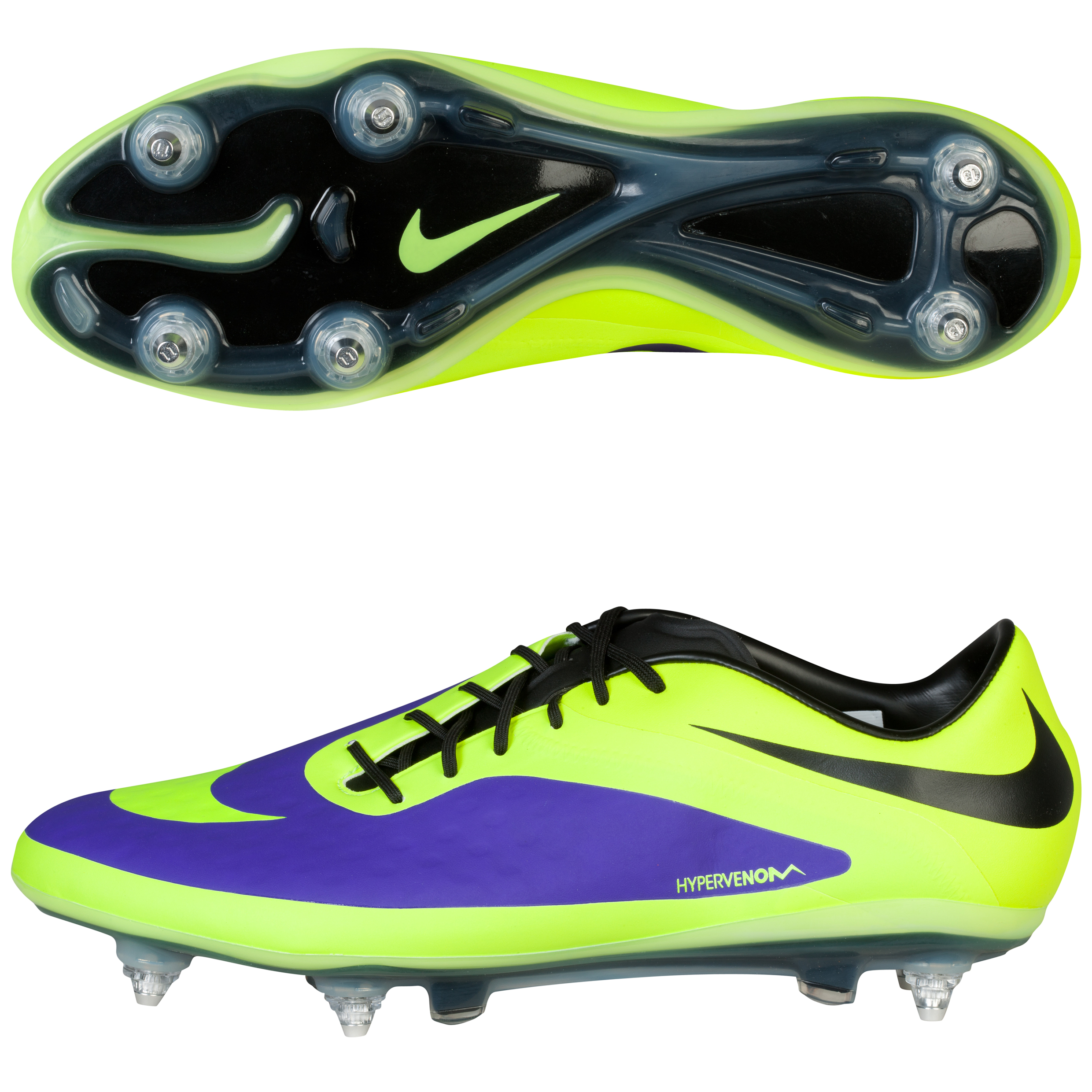 Nike Hypervenom Phatal Soft Ground Football Boots - Electro Purple/Volt/Black Purple