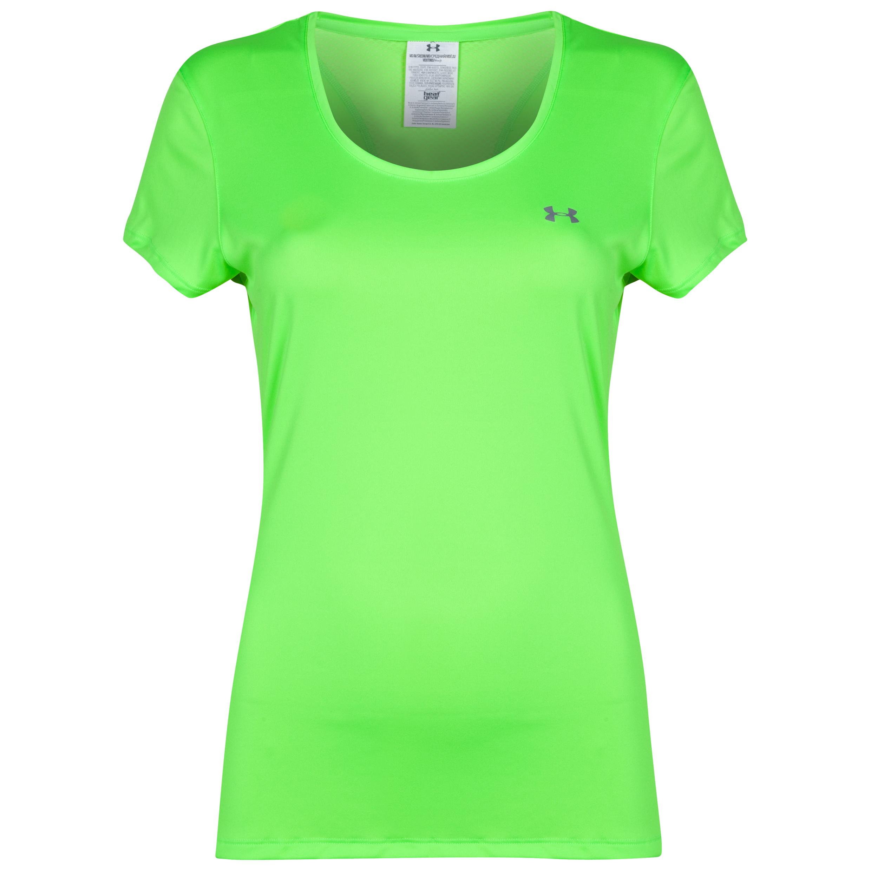 Under Armour Heat Gear Flyweight Tee - Womens Green
