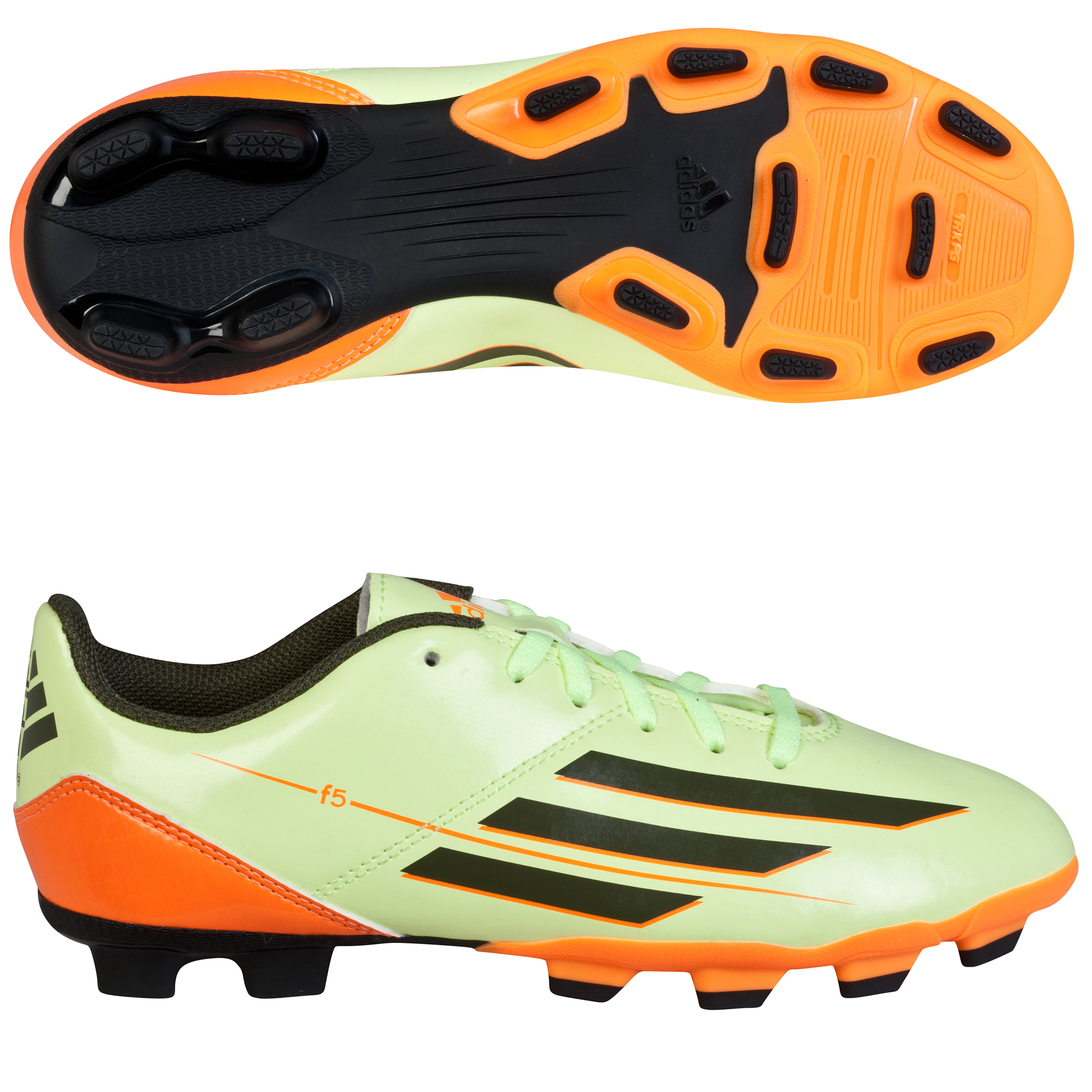 adidas F5 TRX Firm Ground Football Boots Kids Yellow