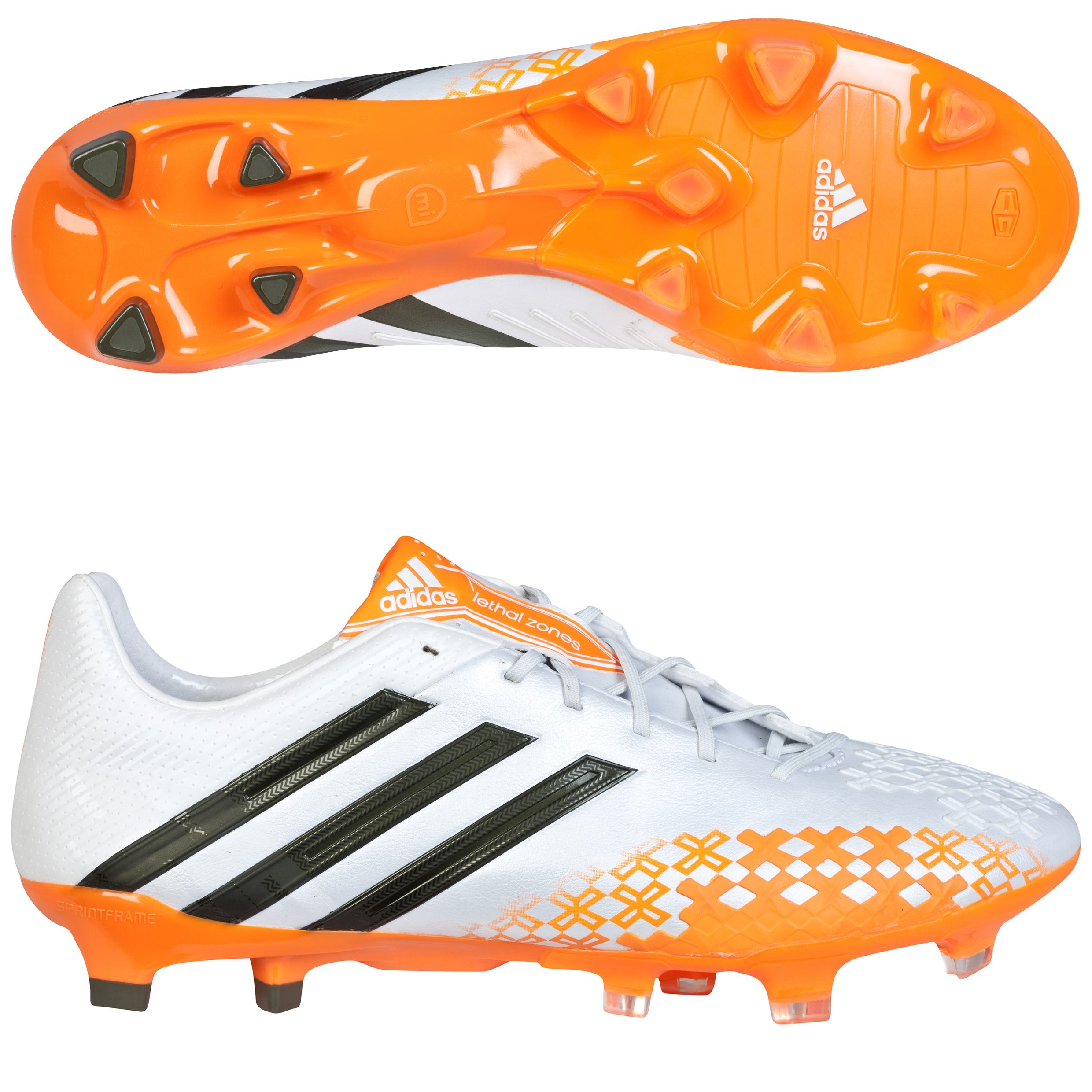 adidas Predator LZ TRX Firm Ground Football Boots White