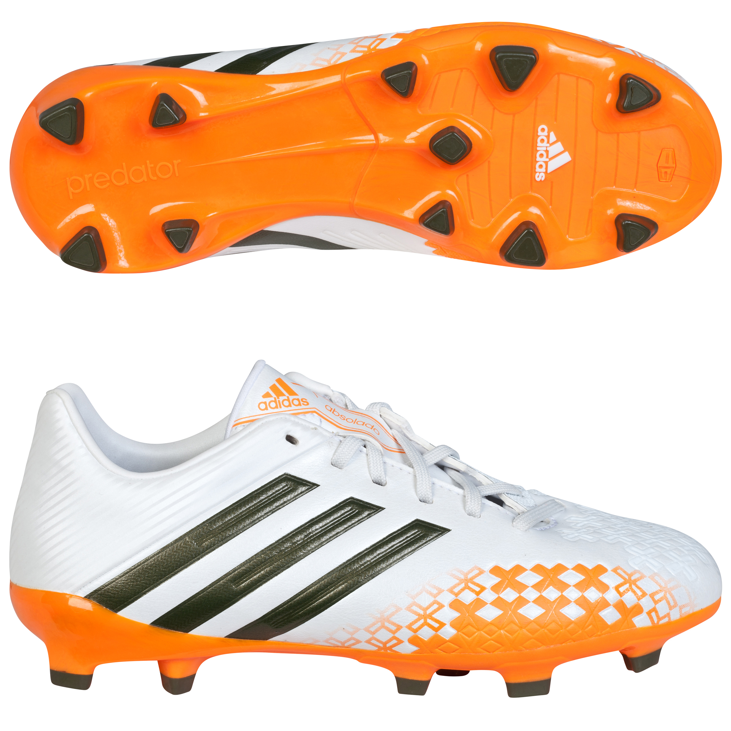 adidas P Absolado LZ TRX Firm Ground Football Boots - Kids White